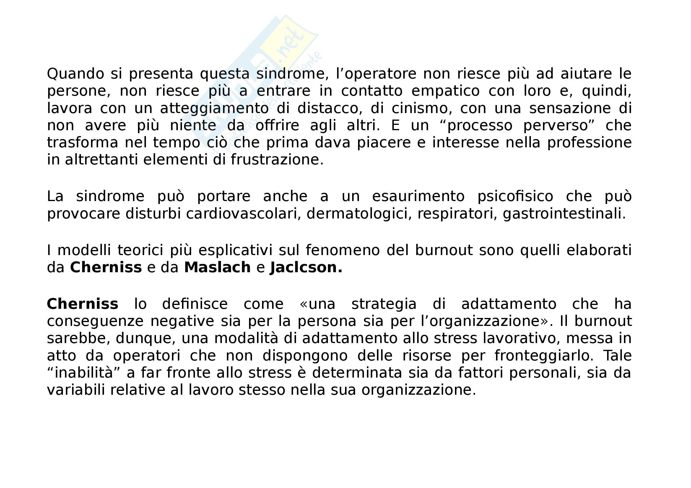 Riassunto esame Servizio sociale, prof. Baronello, libro consigliato Assistenti sociali professionisti, Zalanti, Rovai Pag. 116