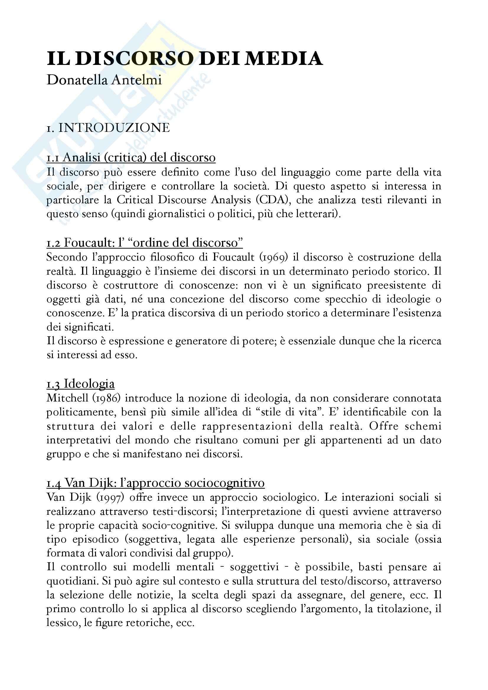 Discorso dei media, Il - Antelmi, Donatella