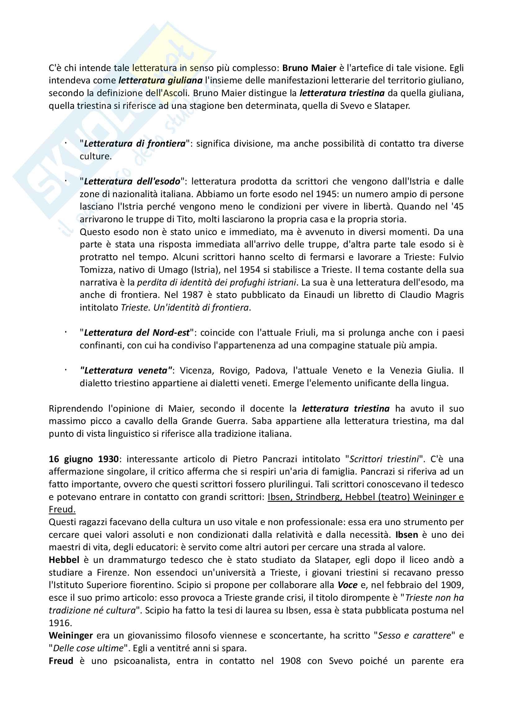 Appunti di Letteratura italiana contemporanea (lezioni complete) Pag. 2