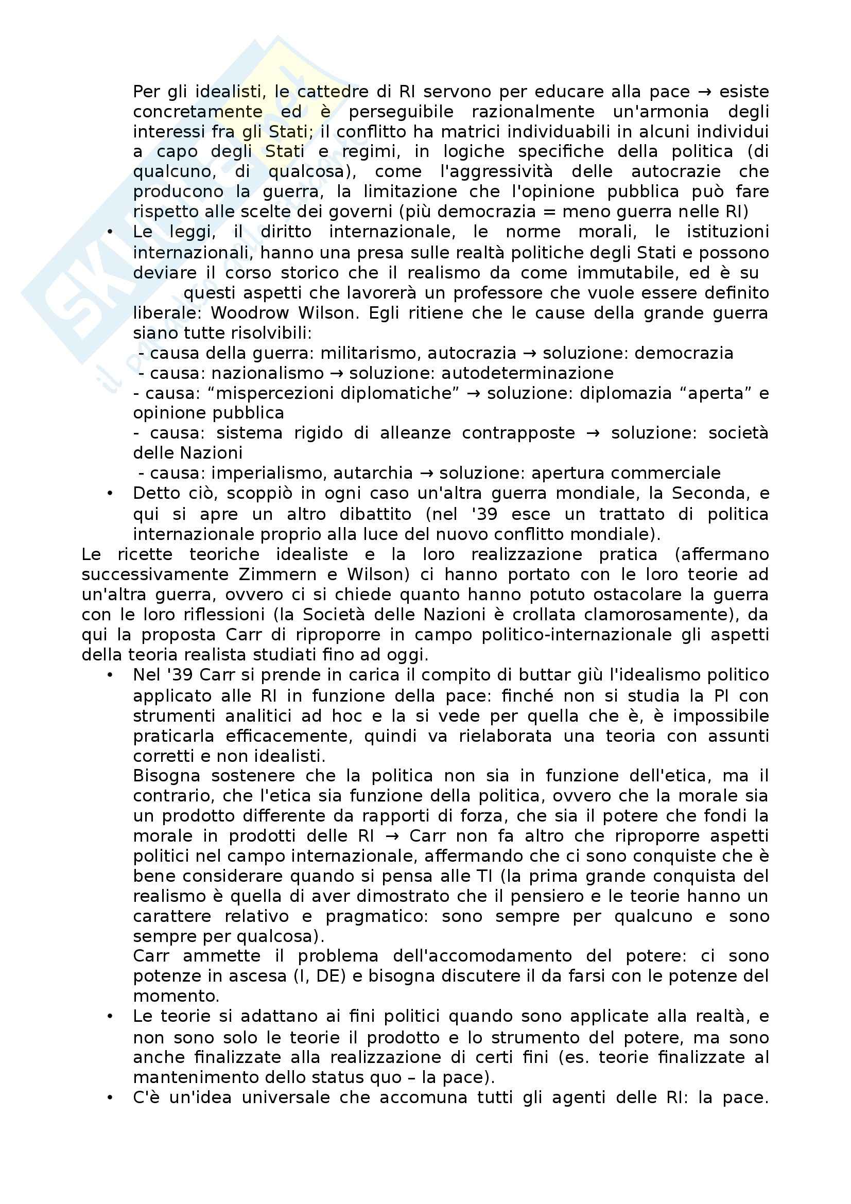 Lezioni, Relazioni internazionali Pag. 11