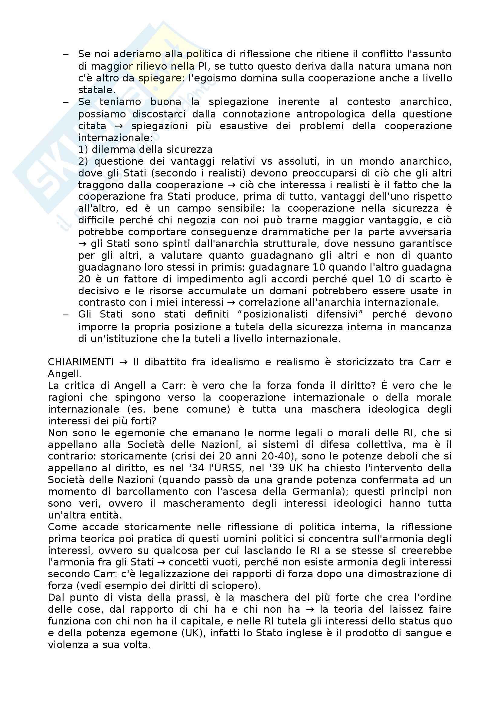 Lezioni, Relazioni internazionali Pag. 16