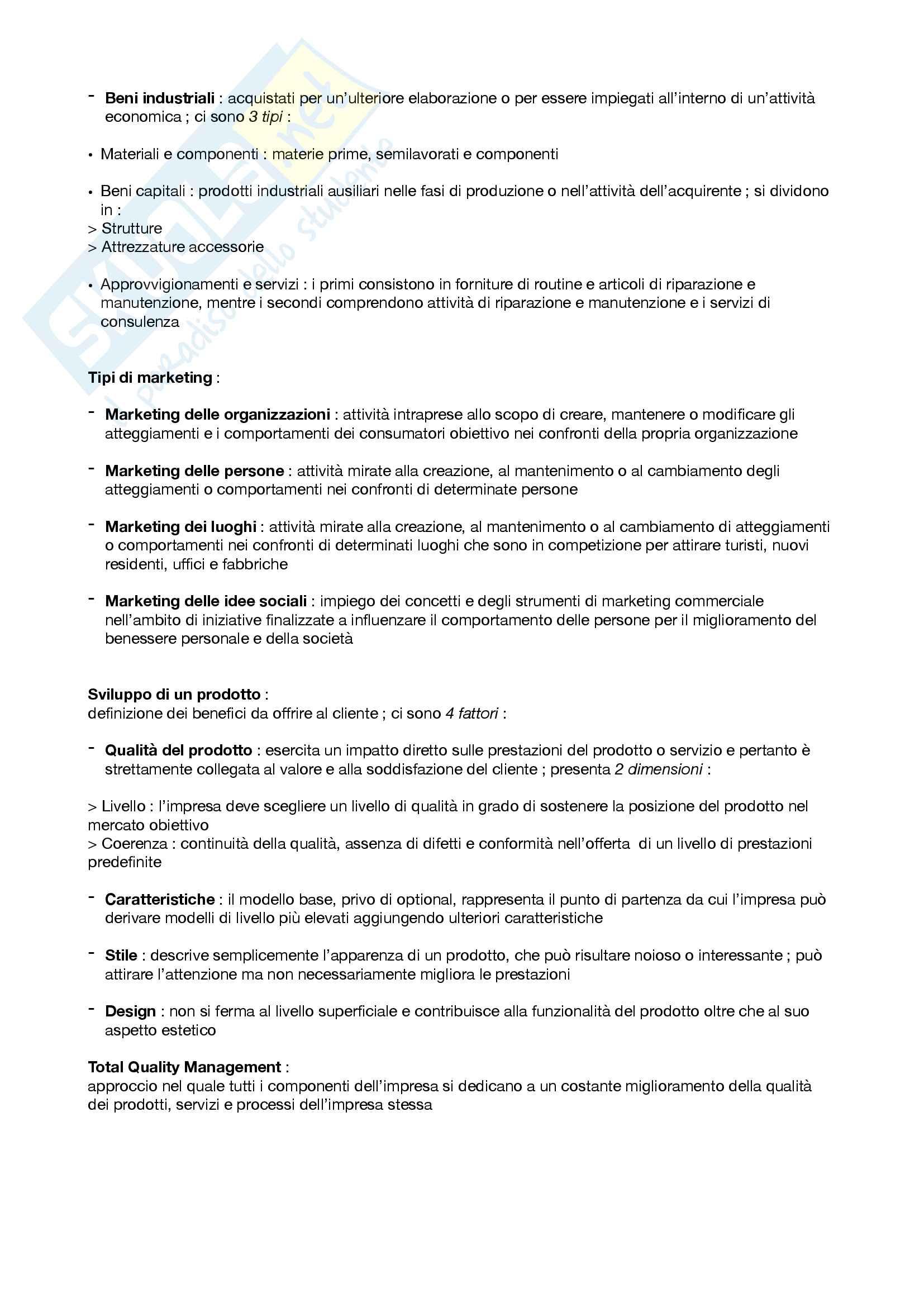 "Riassunto esame Marketing, prof. Silvia Grappi, libro consigliato ""Principi di Marketing"" di Kotler, Armstrong Pag. 16"