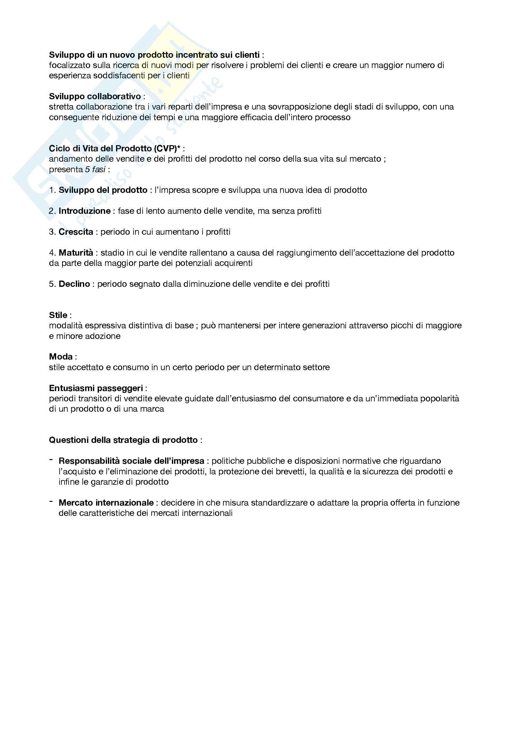 "Riassunto esame Marketing, prof. Silvia Grappi, libro consigliato ""Principi di Marketing"" di Kotler, Armstrong Pag. 21"