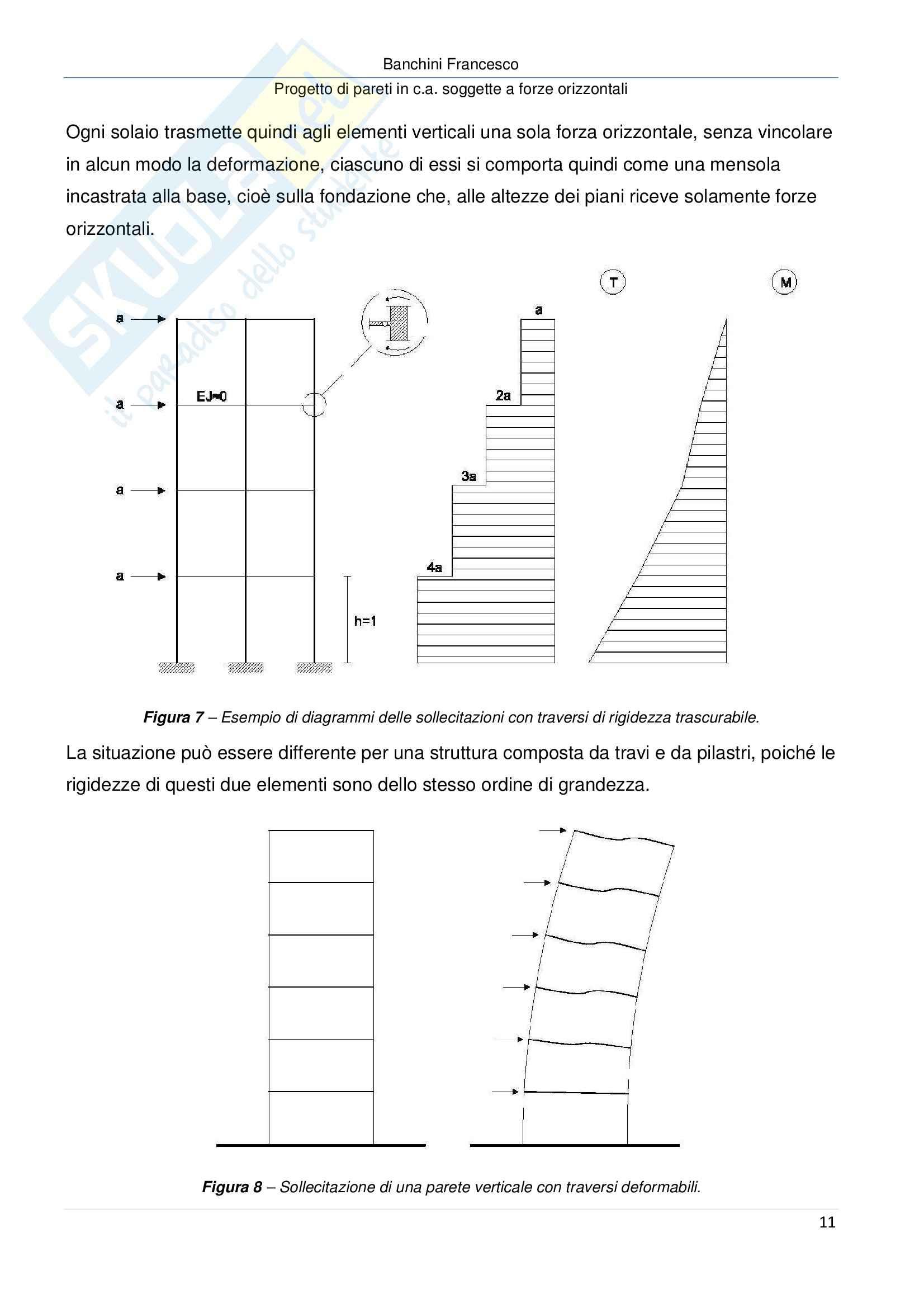 Progetto di pareti in c a soggette a forze orizzontali, Progetto di strutture Pag. 11