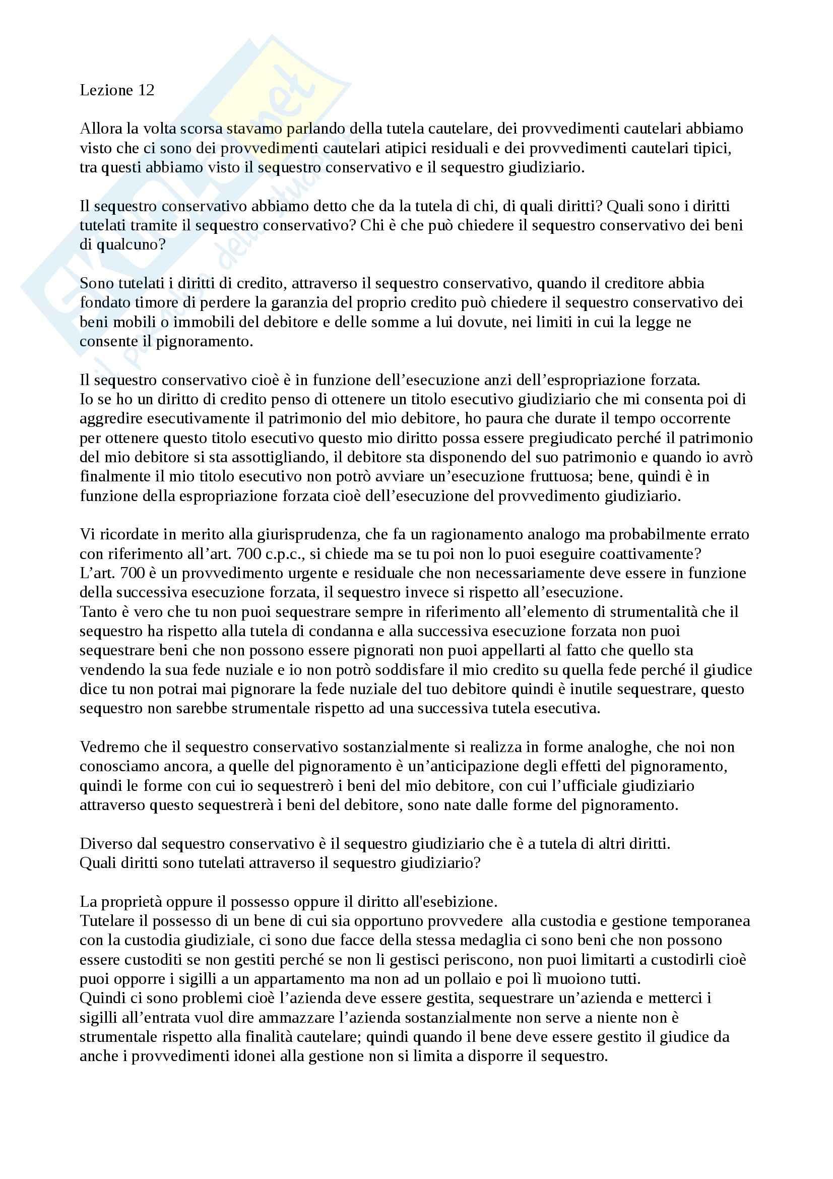 appunto G. Ruffini Procedura civile