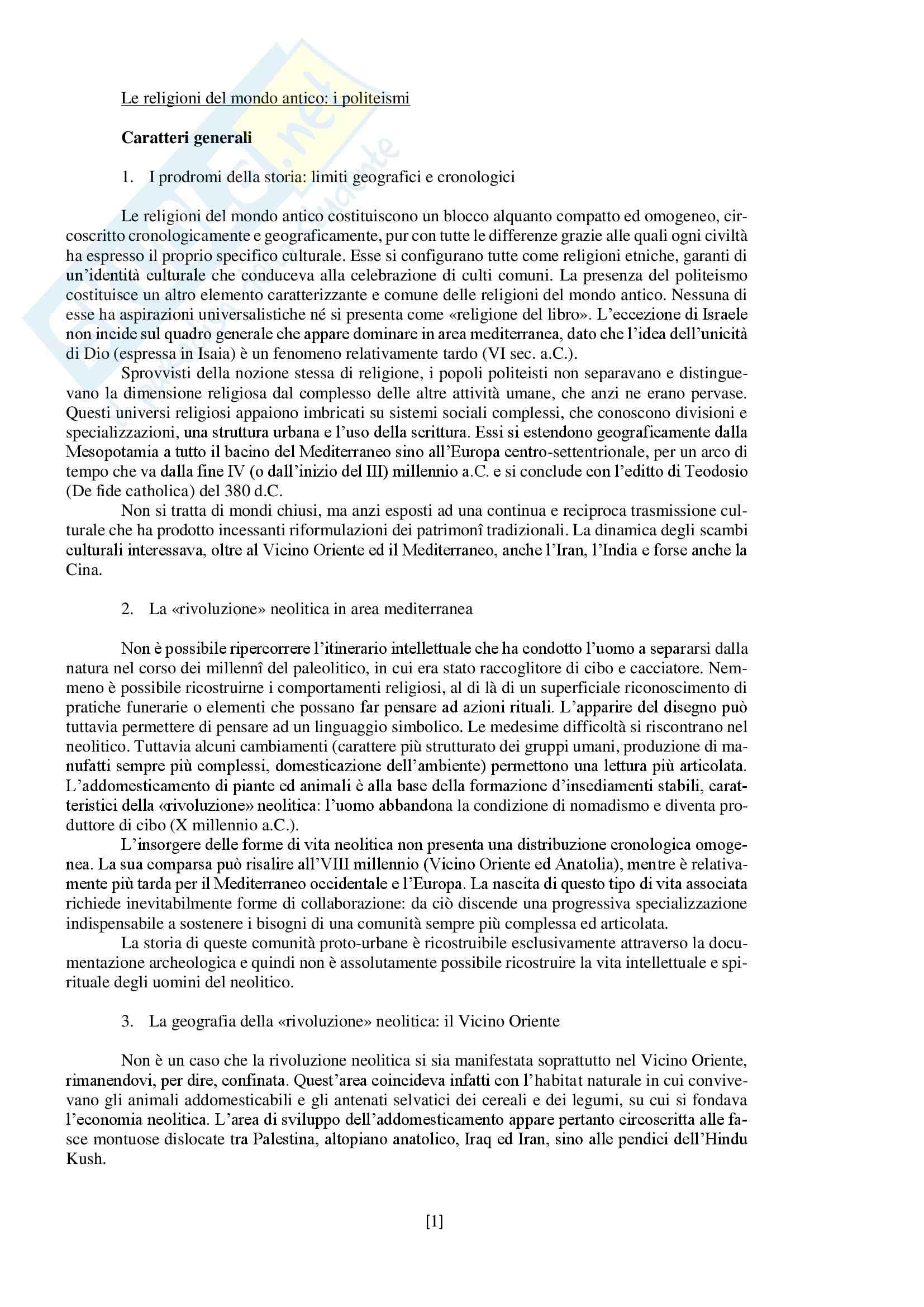 """Riassunto esame storia delle religioni, prof. Spineto, libro consigliato """"Manuale di storia delle religioni"""" di G. Filoramo, M. Massenzio, M. Raveri, P. Scarpi"""