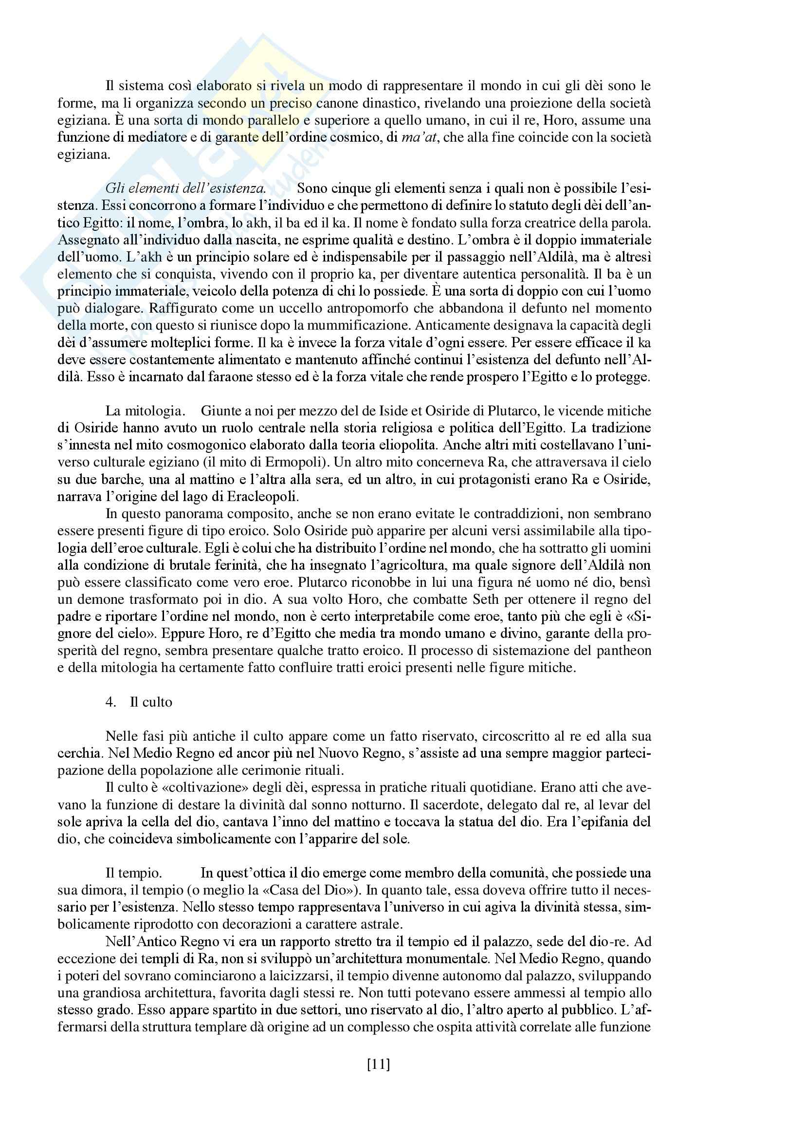"""Riassunto esame storia delle religioni, prof. Spineto, libro consigliato """"Manuale di storia delle religioni"""" di G. Filoramo, M. Massenzio, M. Raveri, P. Scarpi Pag. 11"""