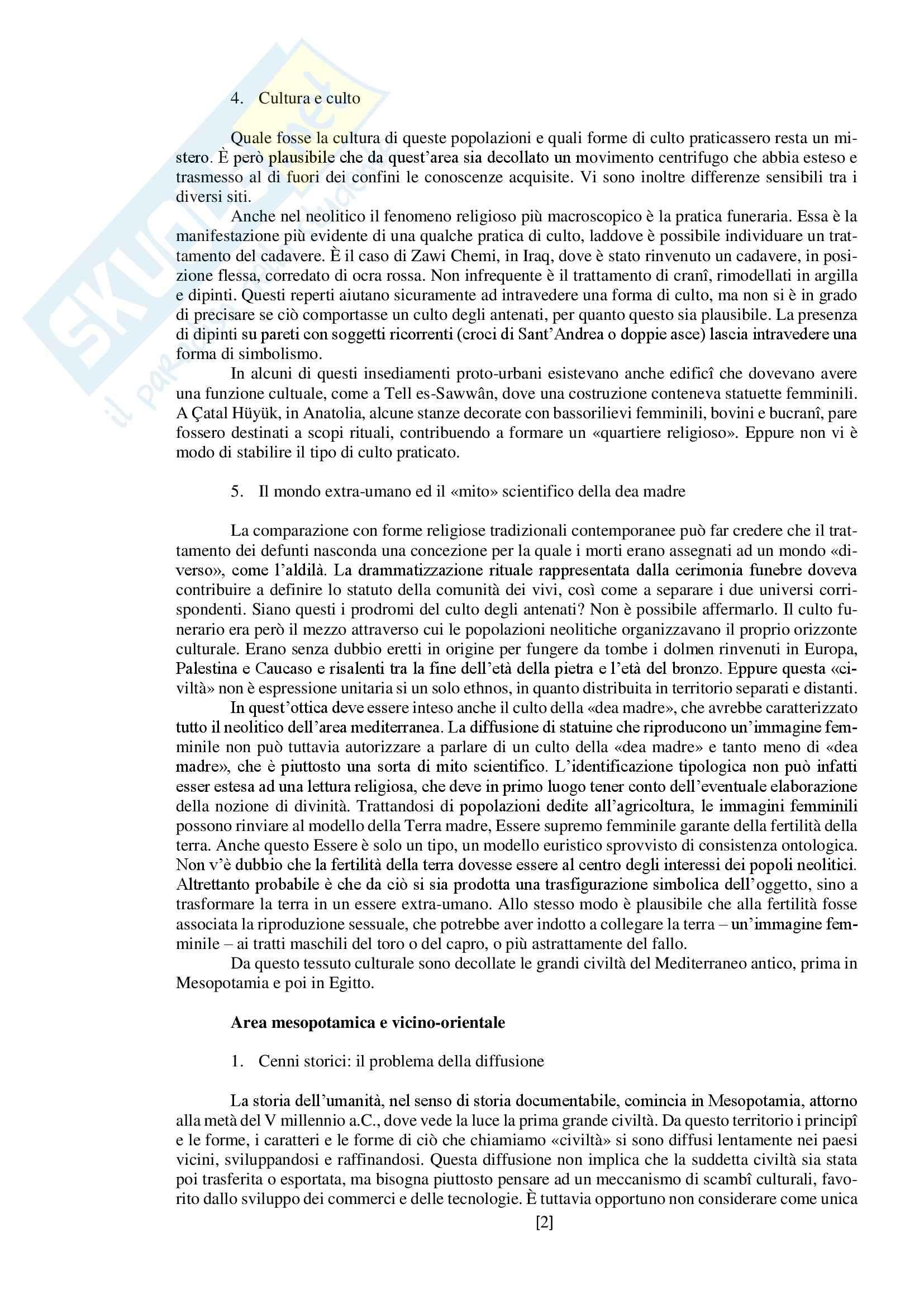 """Riassunto esame storia delle religioni, prof. Spineto, libro consigliato """"Manuale di storia delle religioni"""" di G. Filoramo, M. Massenzio, M. Raveri, P. Scarpi Pag. 2"""
