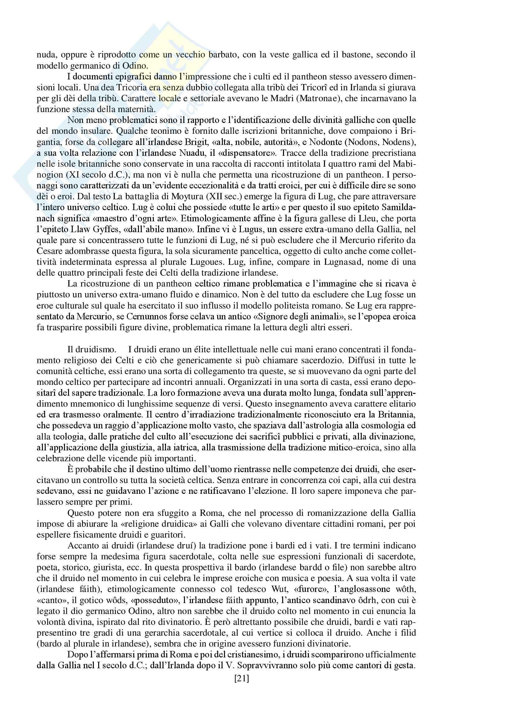 """Riassunto esame storia delle religioni, prof. Spineto, libro consigliato """"Manuale di storia delle religioni"""" di G. Filoramo, M. Massenzio, M. Raveri, P. Scarpi Pag. 21"""