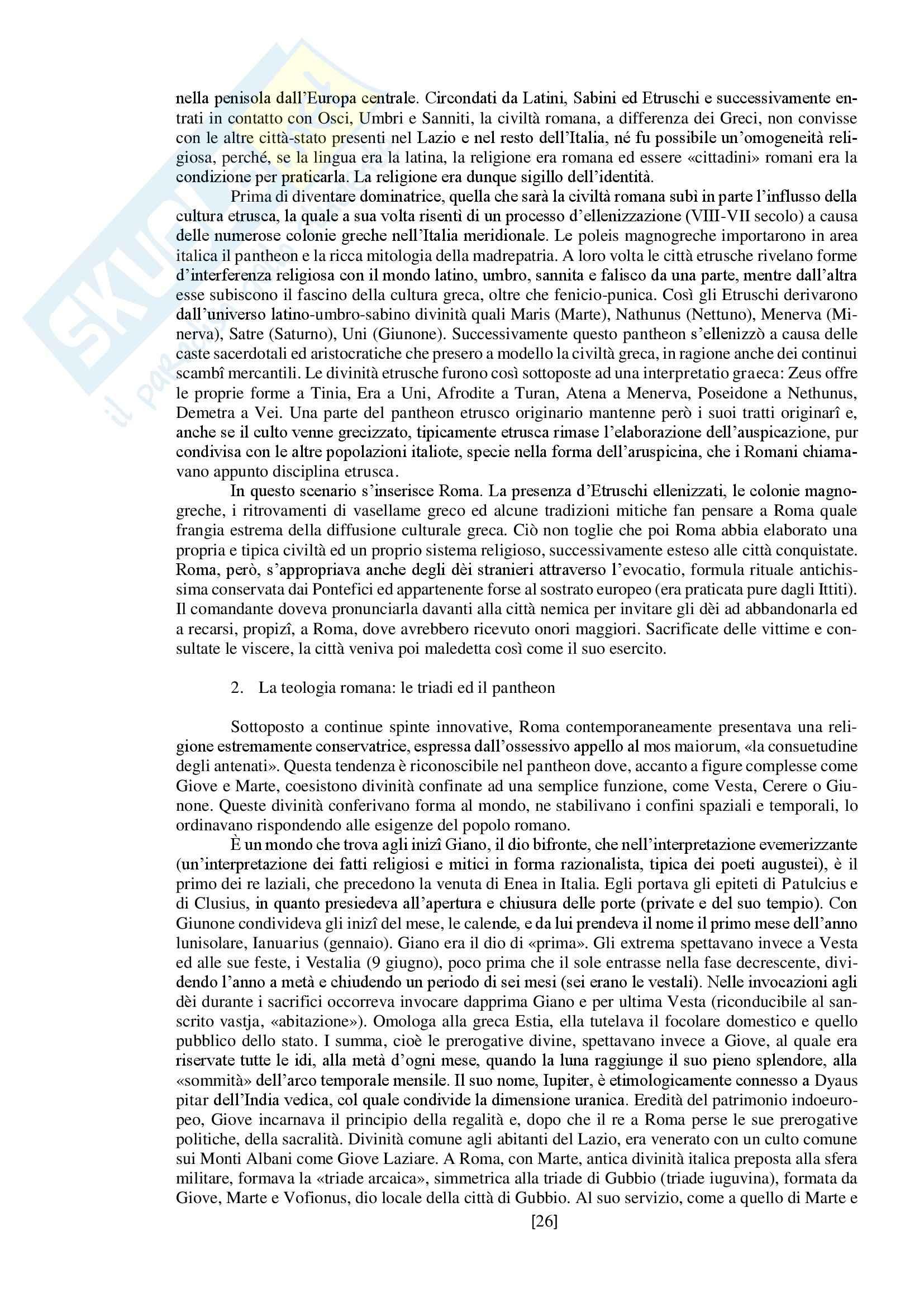 """Riassunto esame storia delle religioni, prof. Spineto, libro consigliato """"Manuale di storia delle religioni"""" di G. Filoramo, M. Massenzio, M. Raveri, P. Scarpi Pag. 26"""