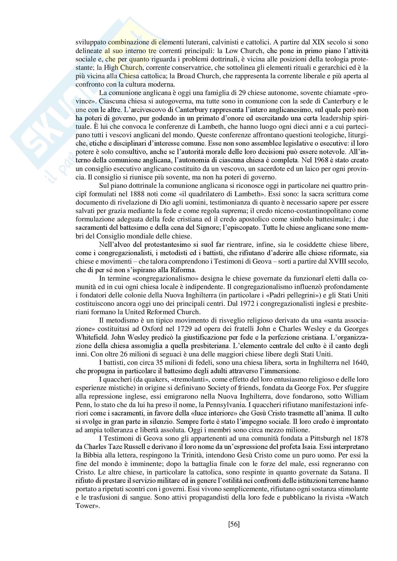 """Riassunto esame storia delle religioni, prof. Spineto, libro consigliato """"Manuale di storia delle religioni"""" di G. Filoramo, M. Massenzio, M. Raveri, P. Scarpi Pag. 56"""
