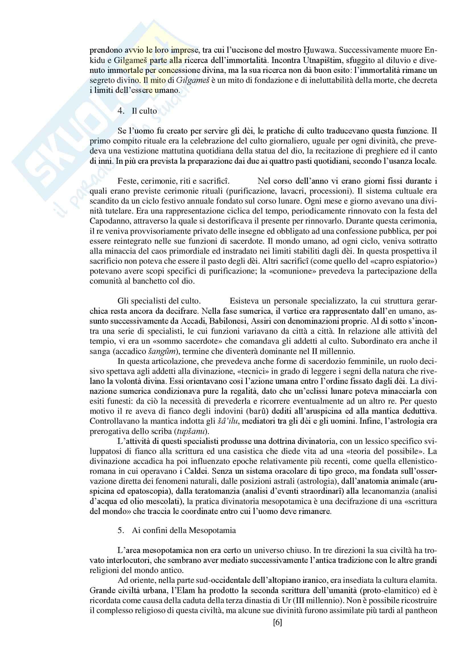 """Riassunto esame storia delle religioni, prof. Spineto, libro consigliato """"Manuale di storia delle religioni"""" di G. Filoramo, M. Massenzio, M. Raveri, P. Scarpi Pag. 6"""