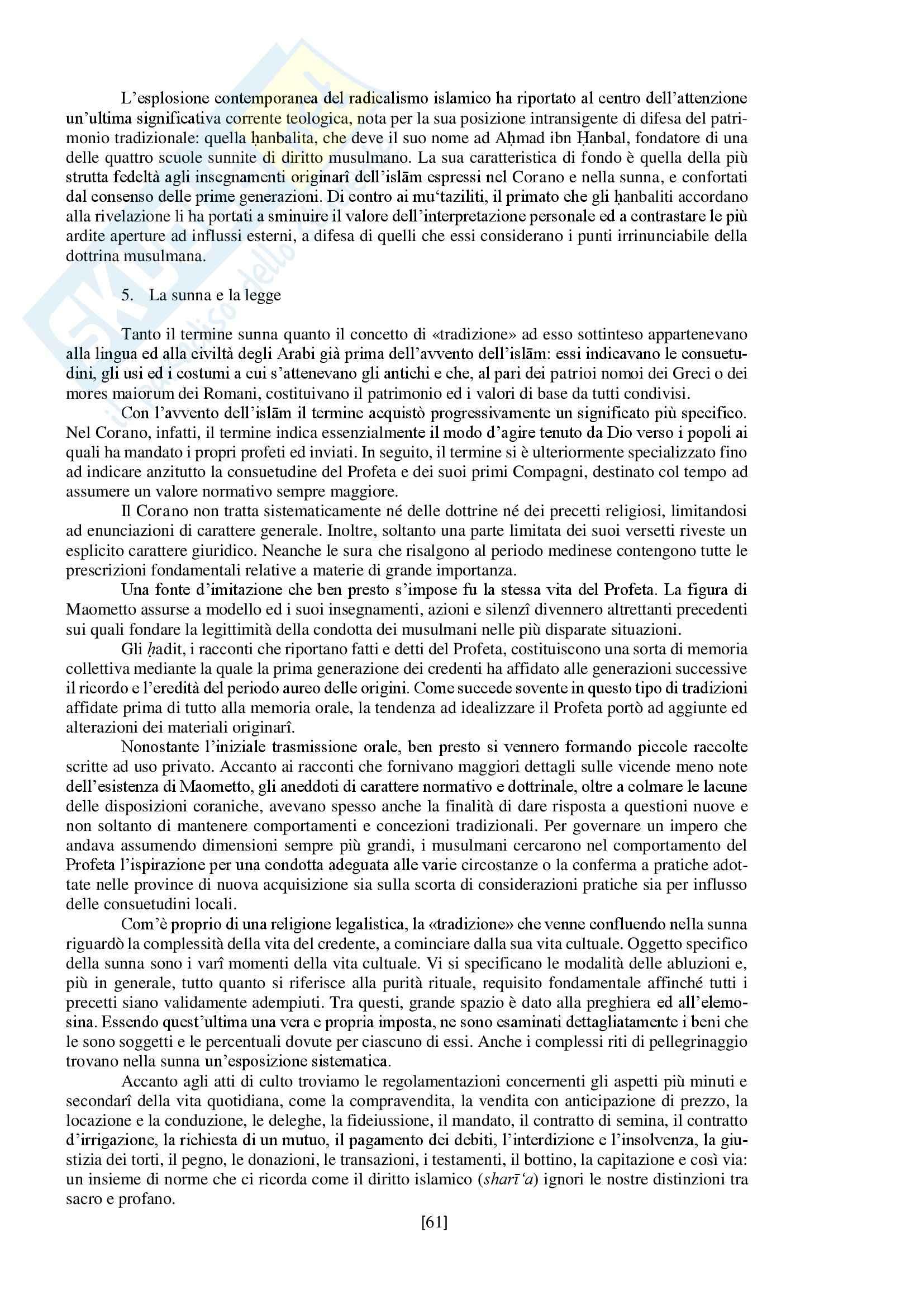 """Riassunto esame storia delle religioni, prof. Spineto, libro consigliato """"Manuale di storia delle religioni"""" di G. Filoramo, M. Massenzio, M. Raveri, P. Scarpi Pag. 61"""
