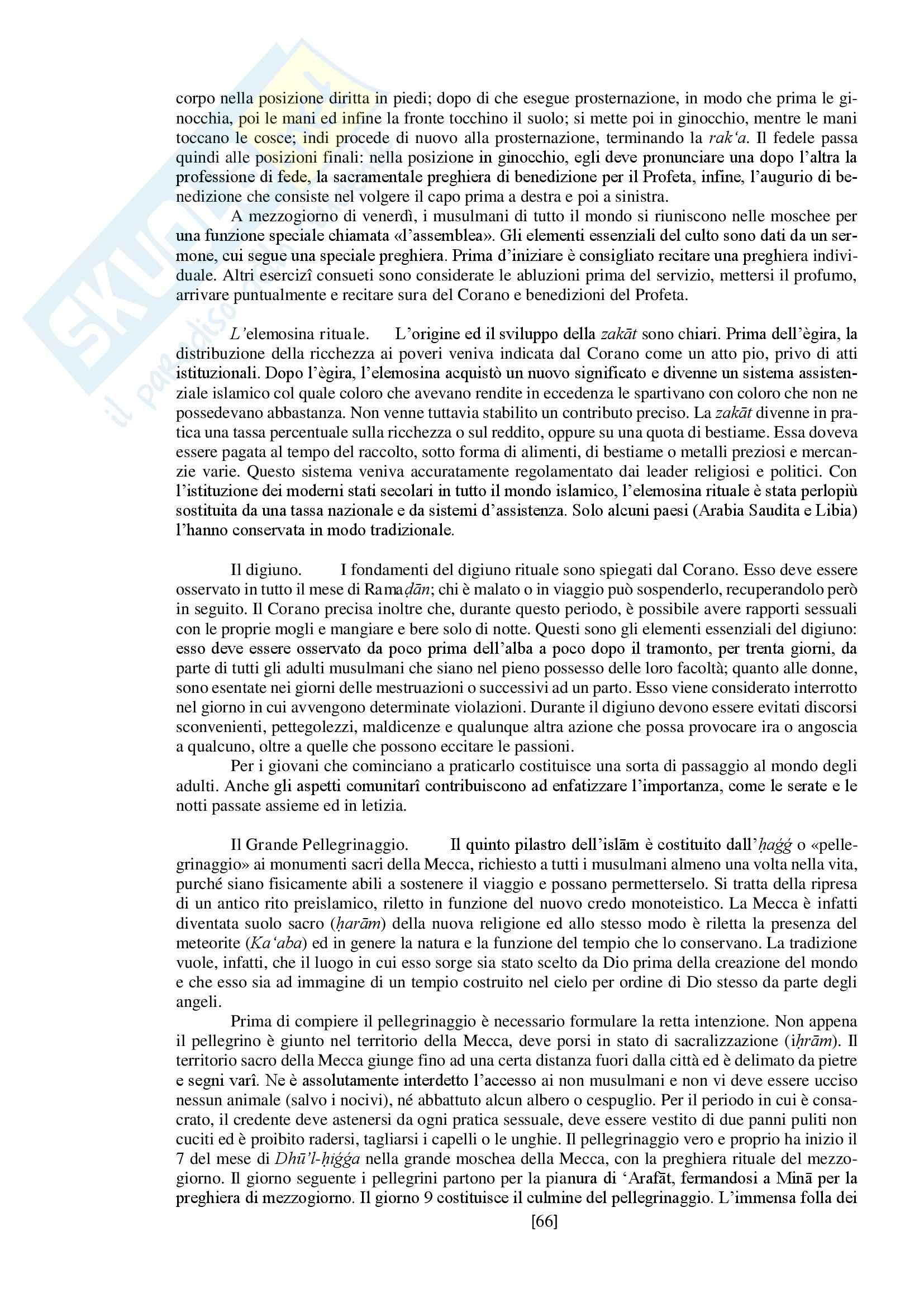 """Riassunto esame storia delle religioni, prof. Spineto, libro consigliato """"Manuale di storia delle religioni"""" di G. Filoramo, M. Massenzio, M. Raveri, P. Scarpi Pag. 66"""