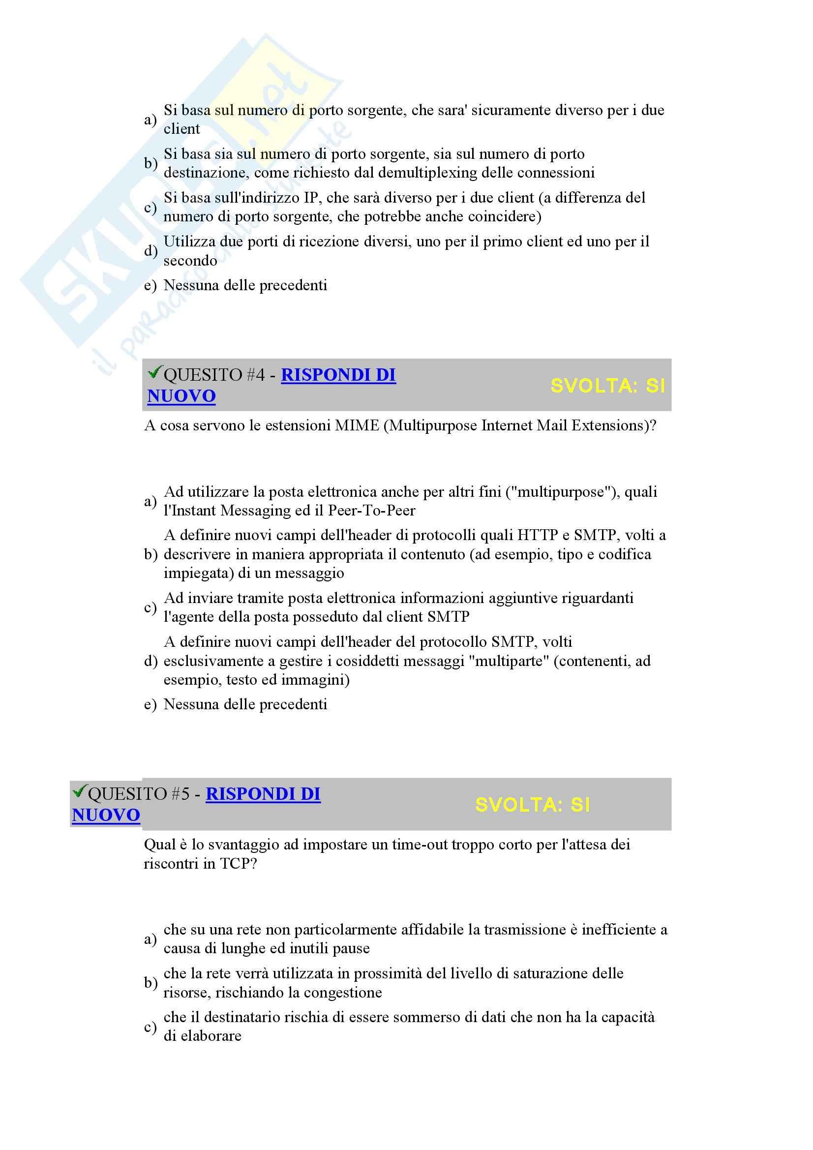 Reti di Calcolatori - prova d'esame 2005 Pag. 2