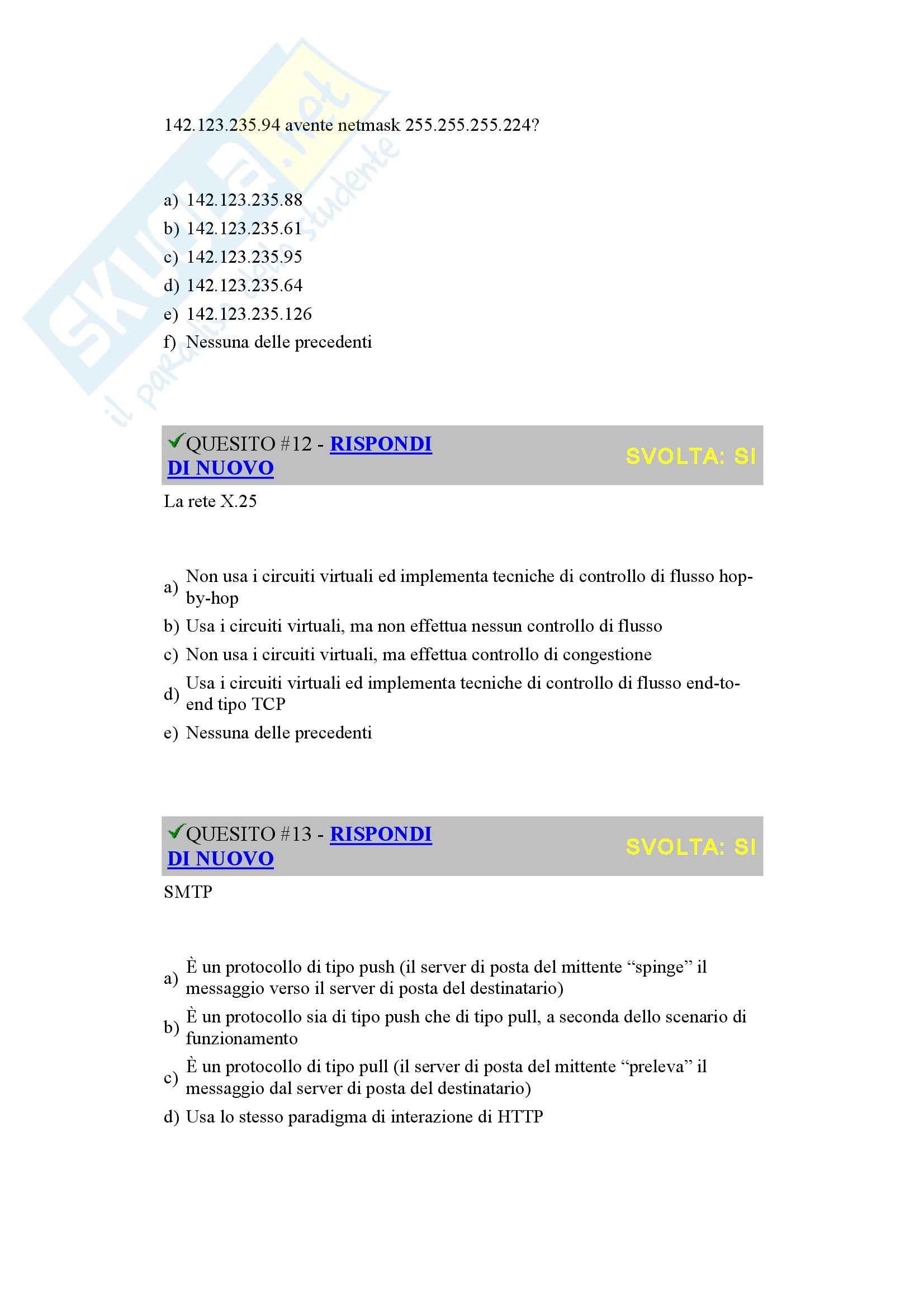 Reti di Calcolatori - prova d'esame 2005 Pag. 6