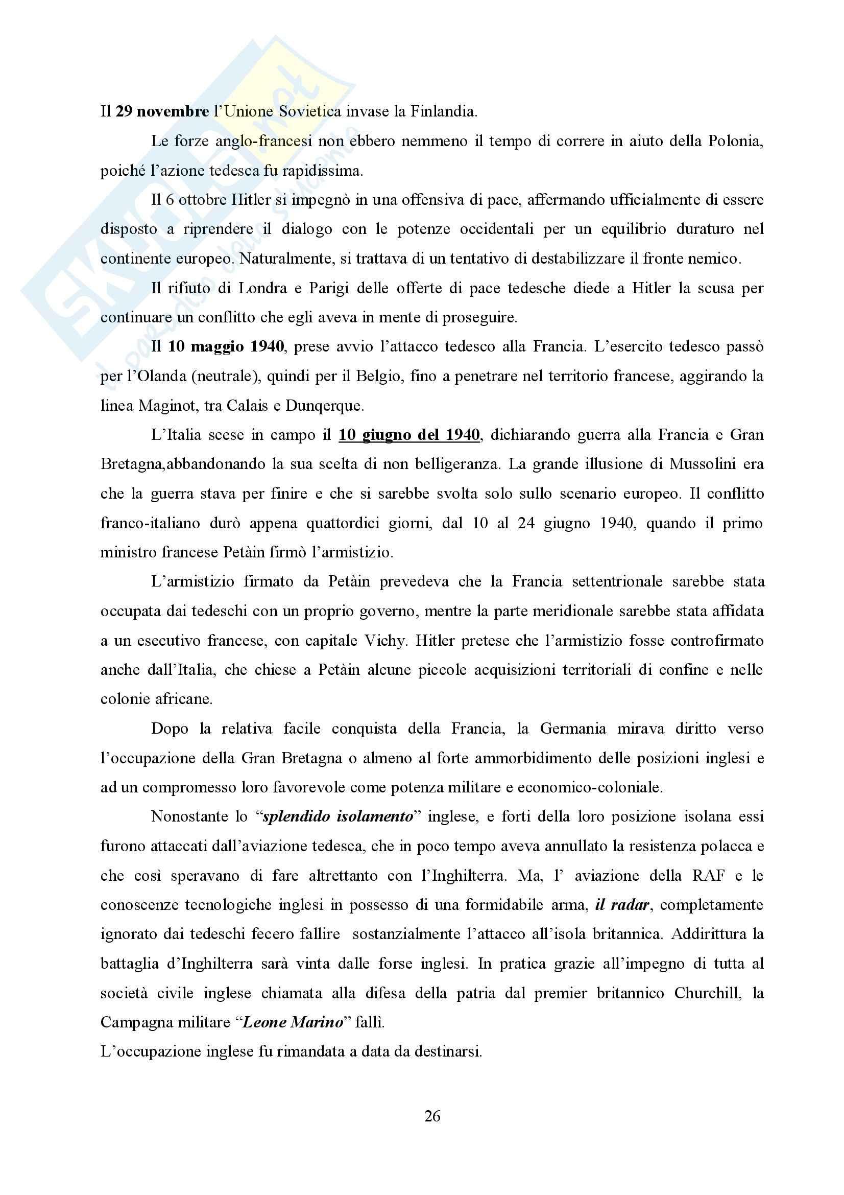 Storia delle relazioni internazionali Pag. 26