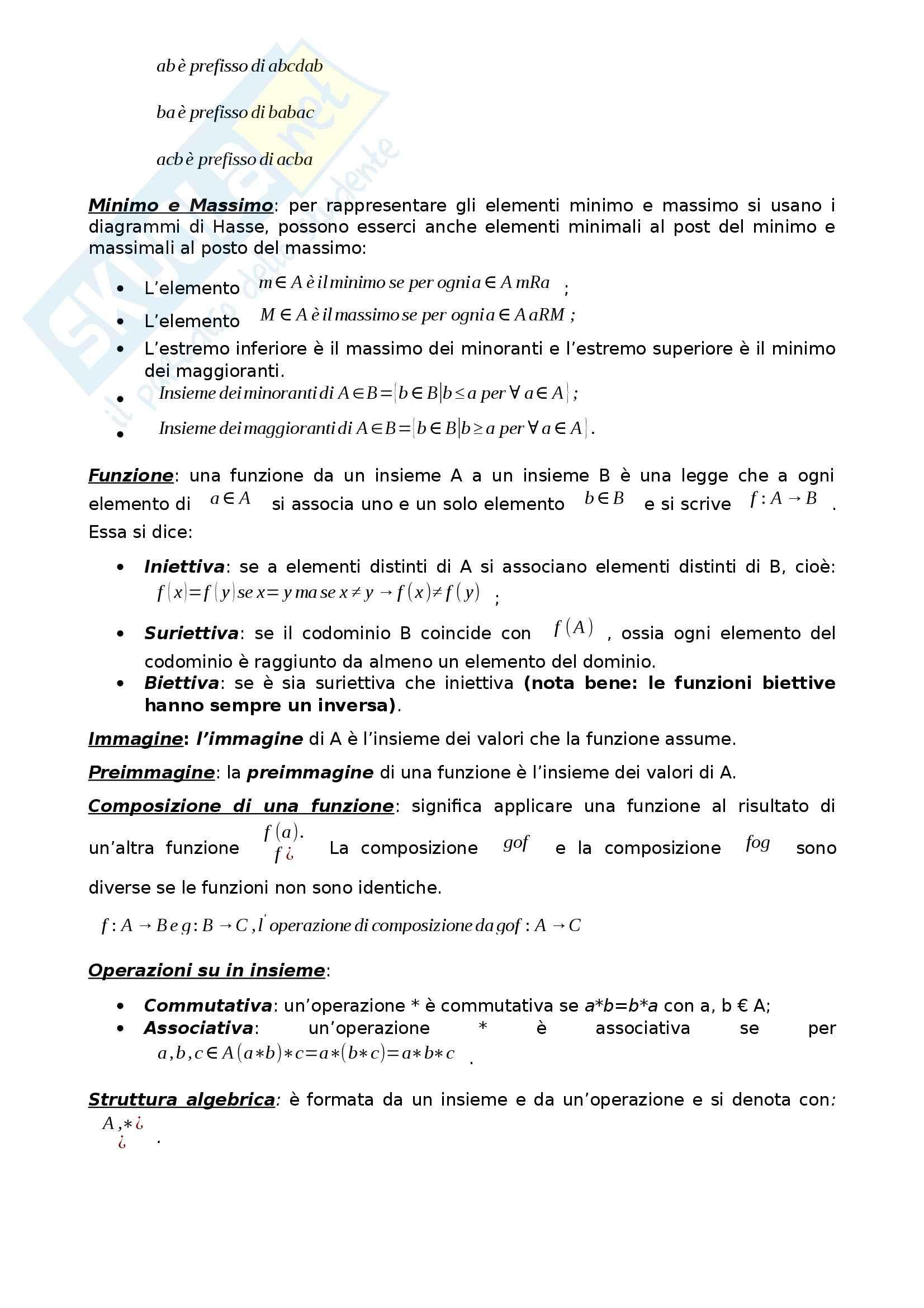 Algebra e Geometria - Appunti Pag. 2