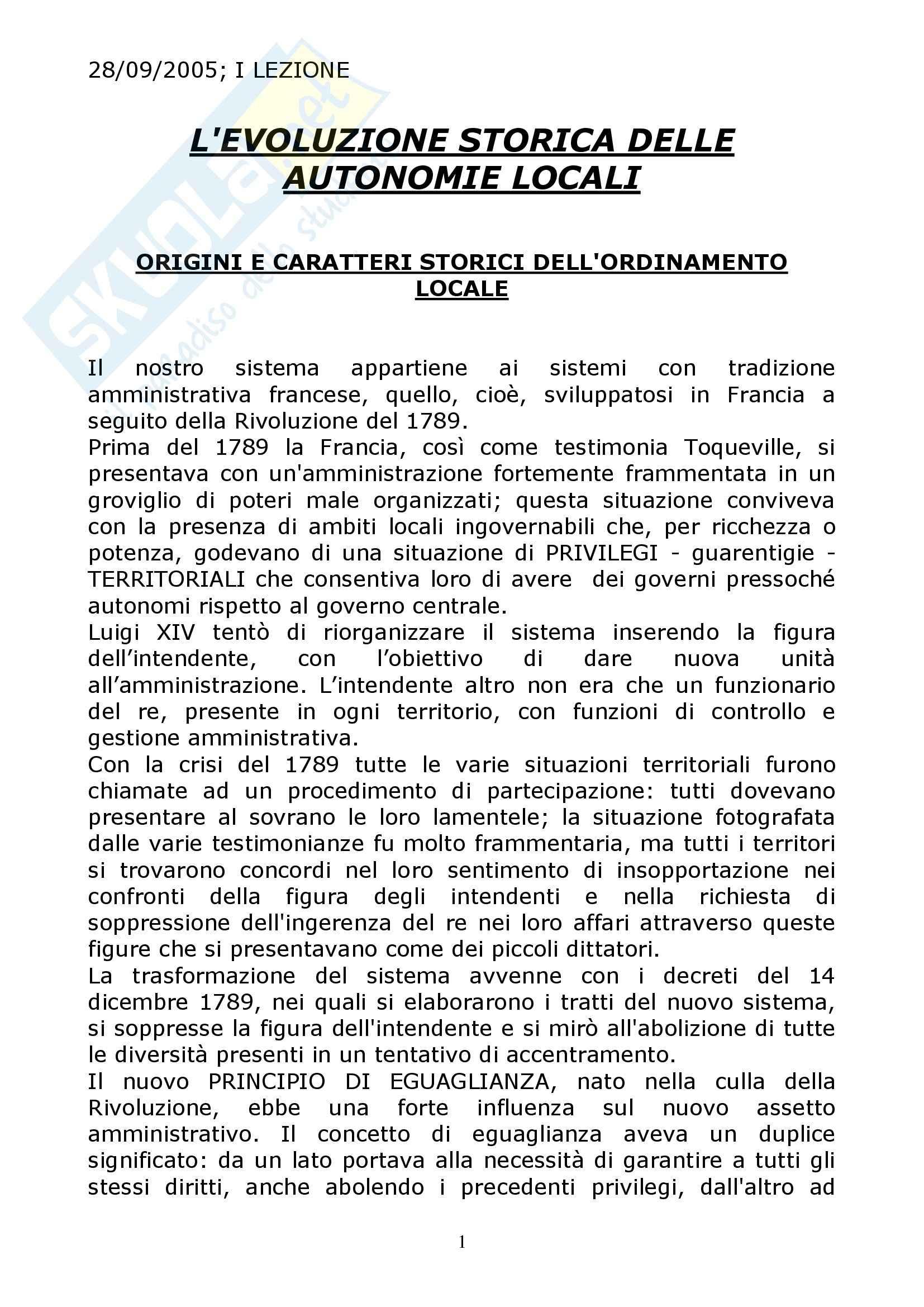 appunto M. Belletti Diritto regionale