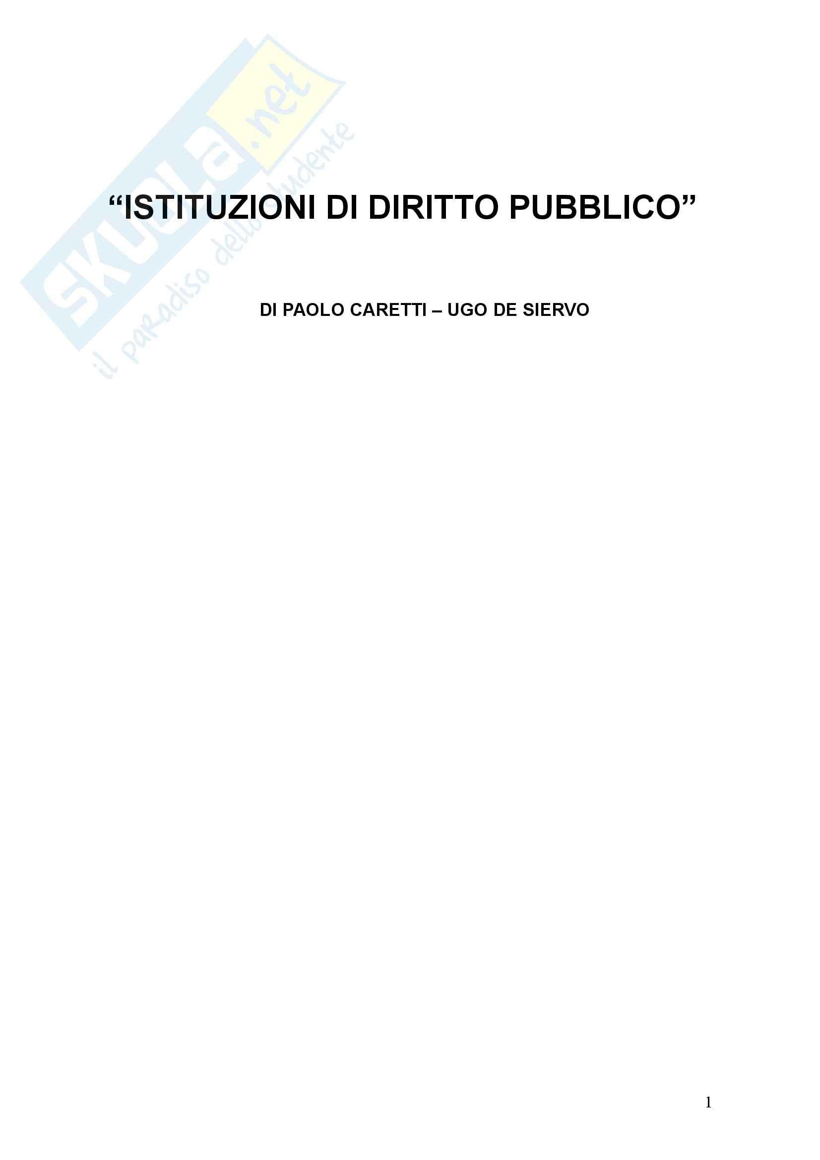 Istituzioni di diritto pubblico - Caretti, De Siervo