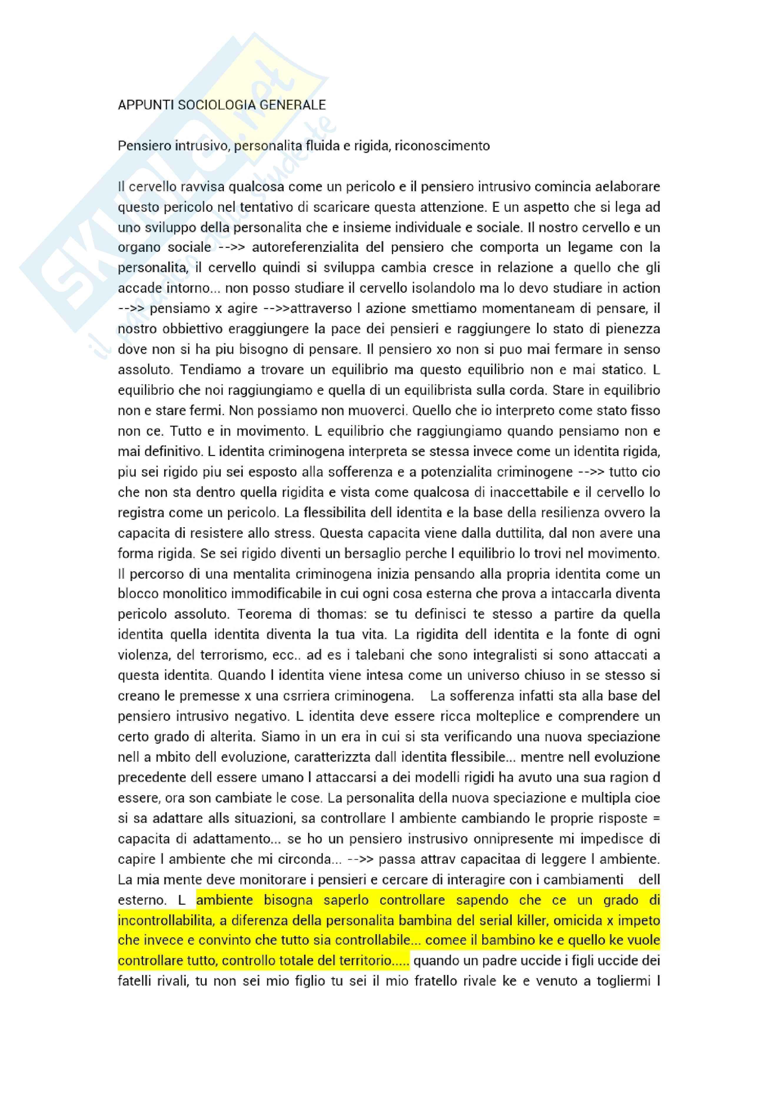Sociologia generale 1