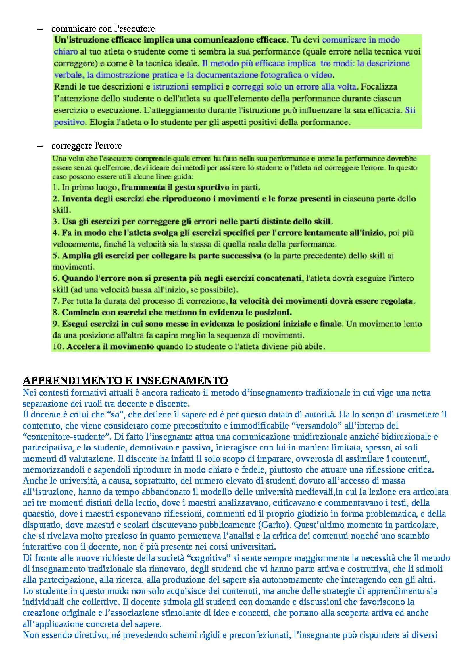 Teoria e metodologia del movimento umano - Appunti seconda parte Pag. 26