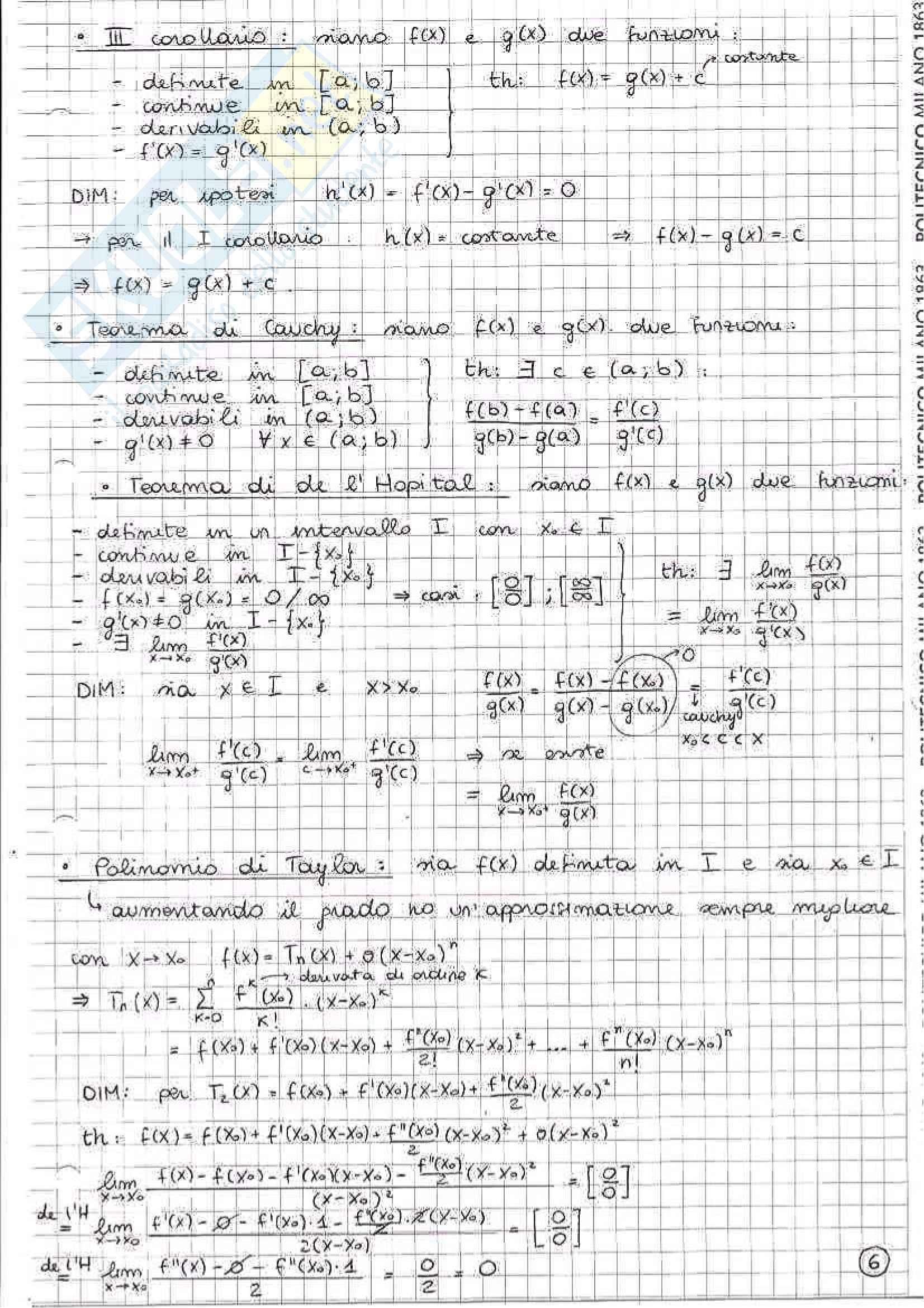 Appunti per passare l'esame di Analisi Matematica 1 Pag. 11