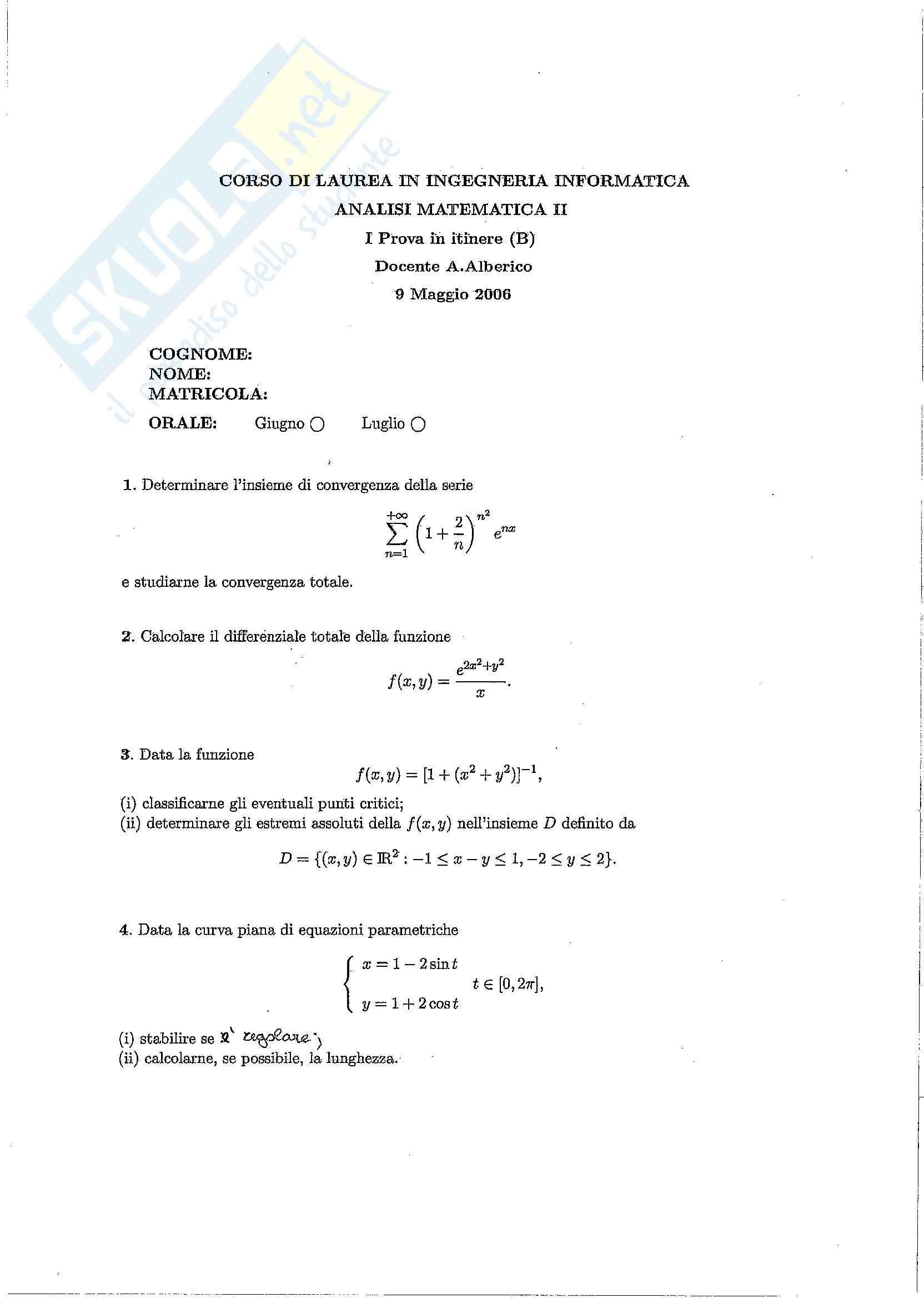 esercitazione A. Alberico Analisi II