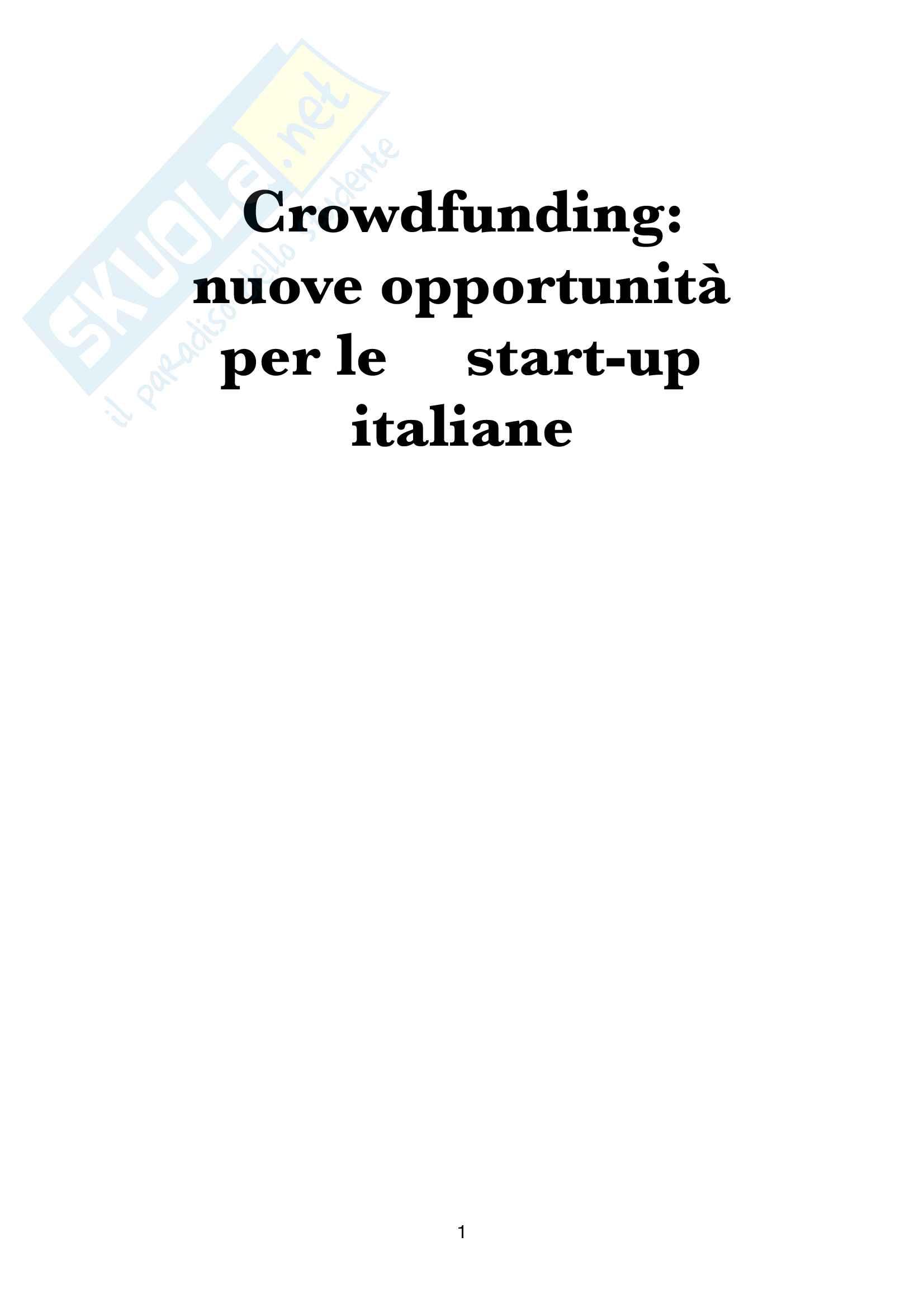 Tesi Crowdfunding