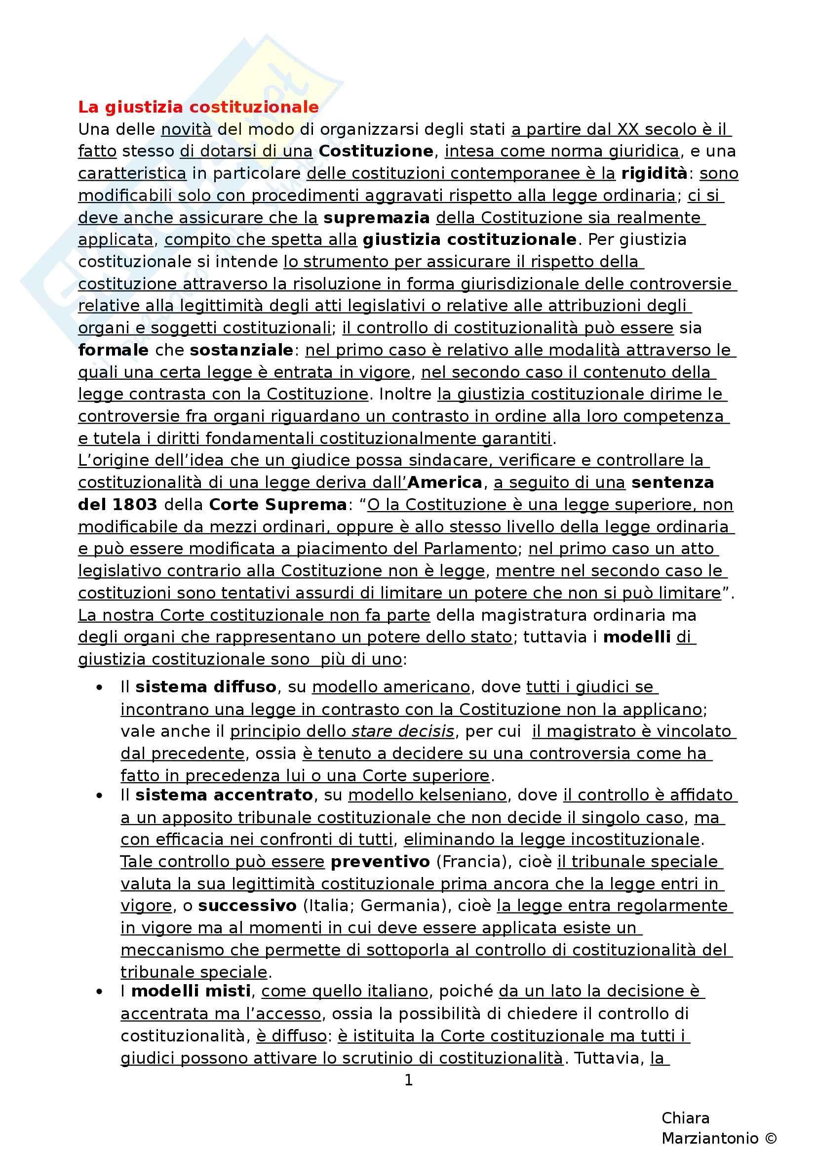 Riassunto esame Istituzioni di Diritto Pubblico, prof. Fusaro, libro consigliato Corso di Diritto Pubblico, Barbera, Fusaro - cap. 15