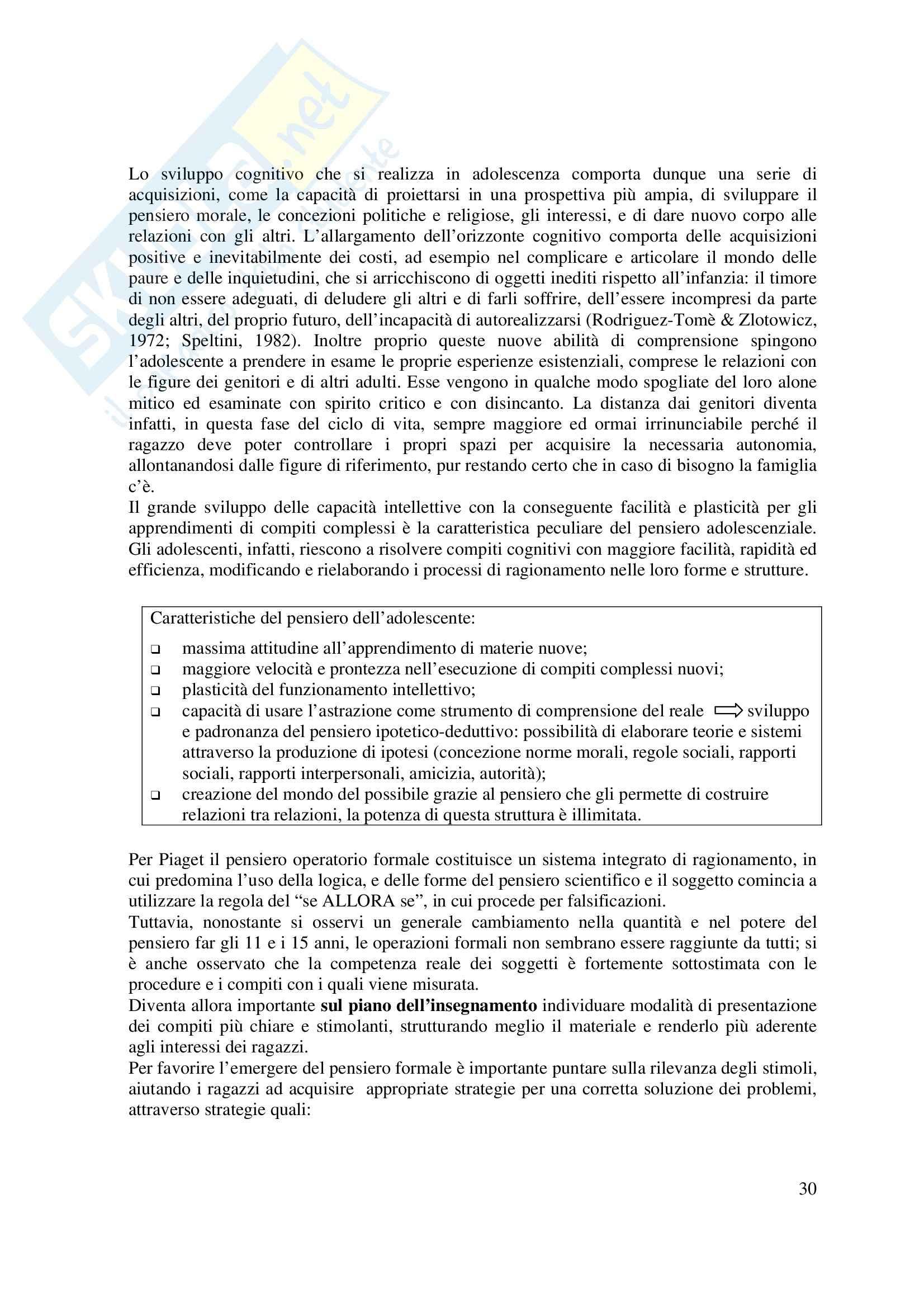 Psicologia dello sviluppo Pag. 31