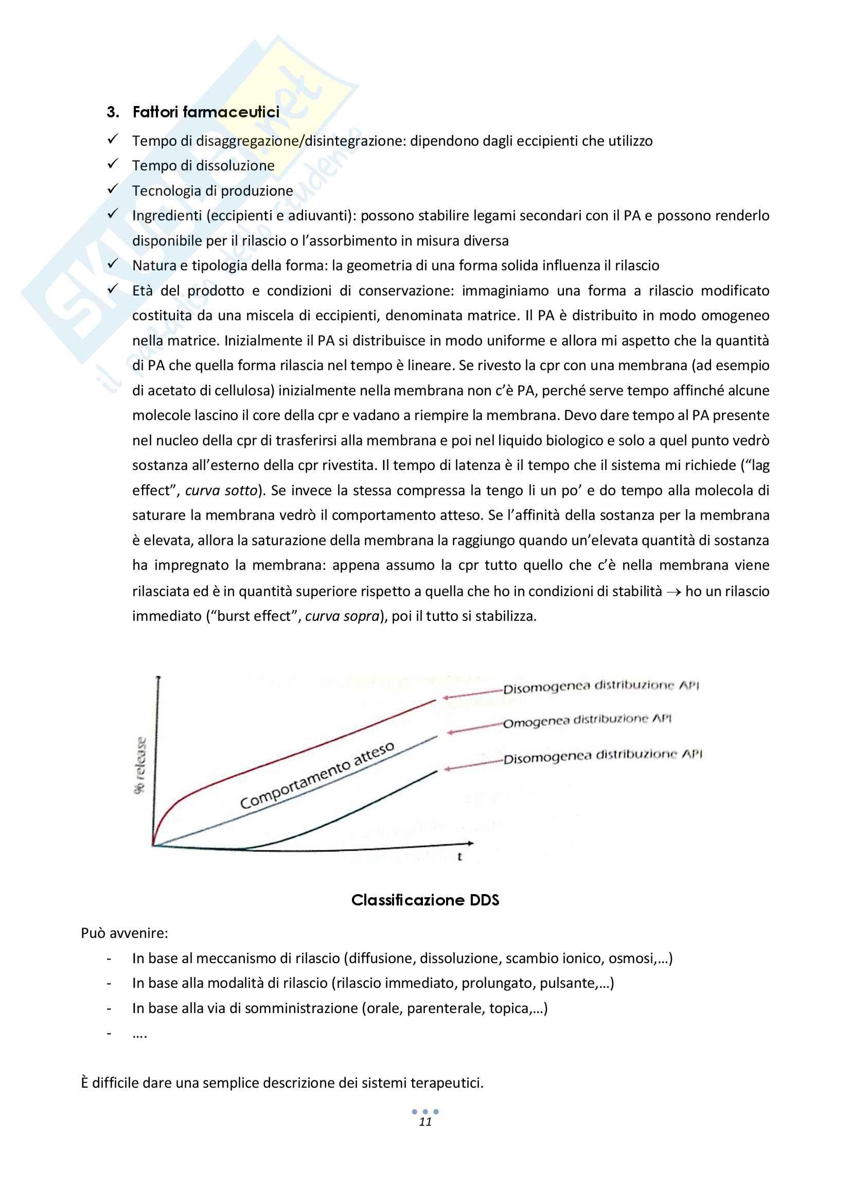 Sistemi terapeutici e forme farmaceutiche a rilascio modificato Pag. 11