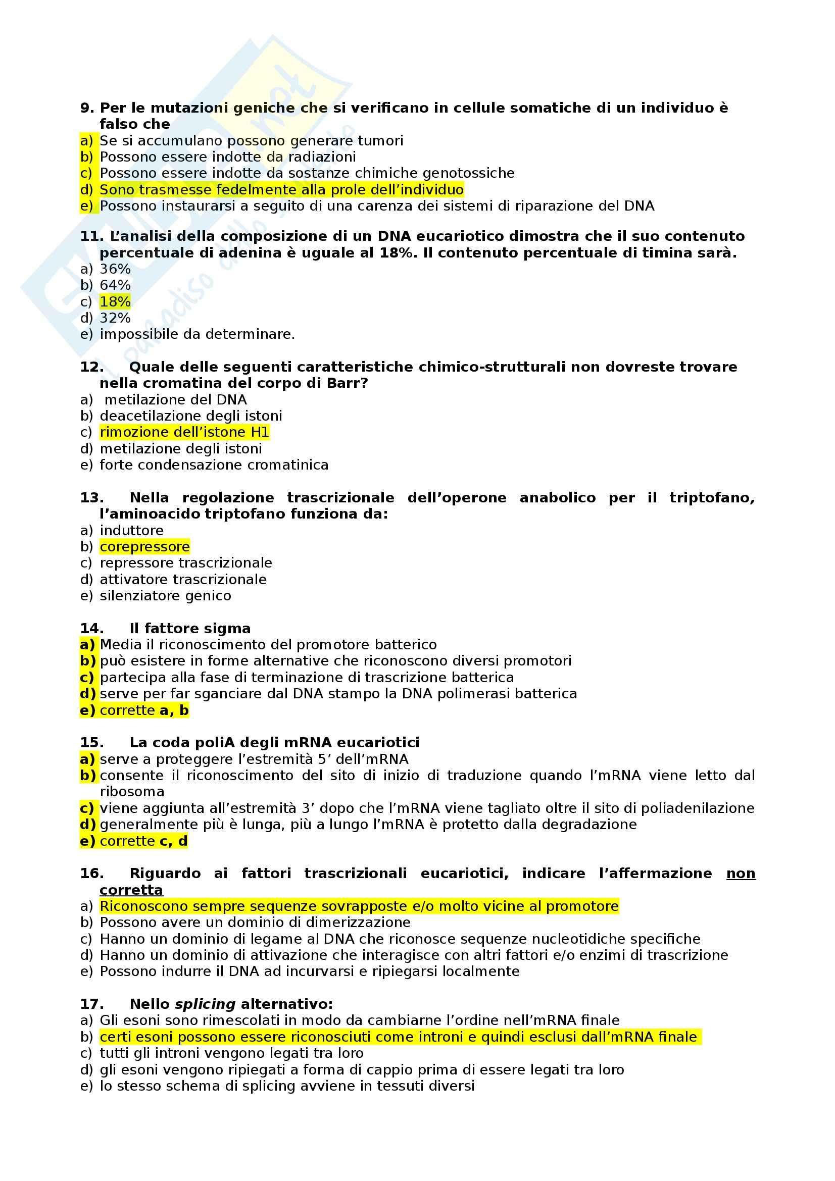 Domande e risposte, Biologia Pag. 2