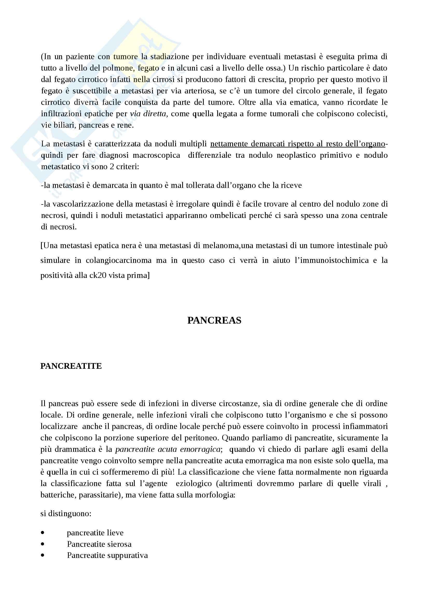 Apparato digerente, Anatomia patologica Pag. 91