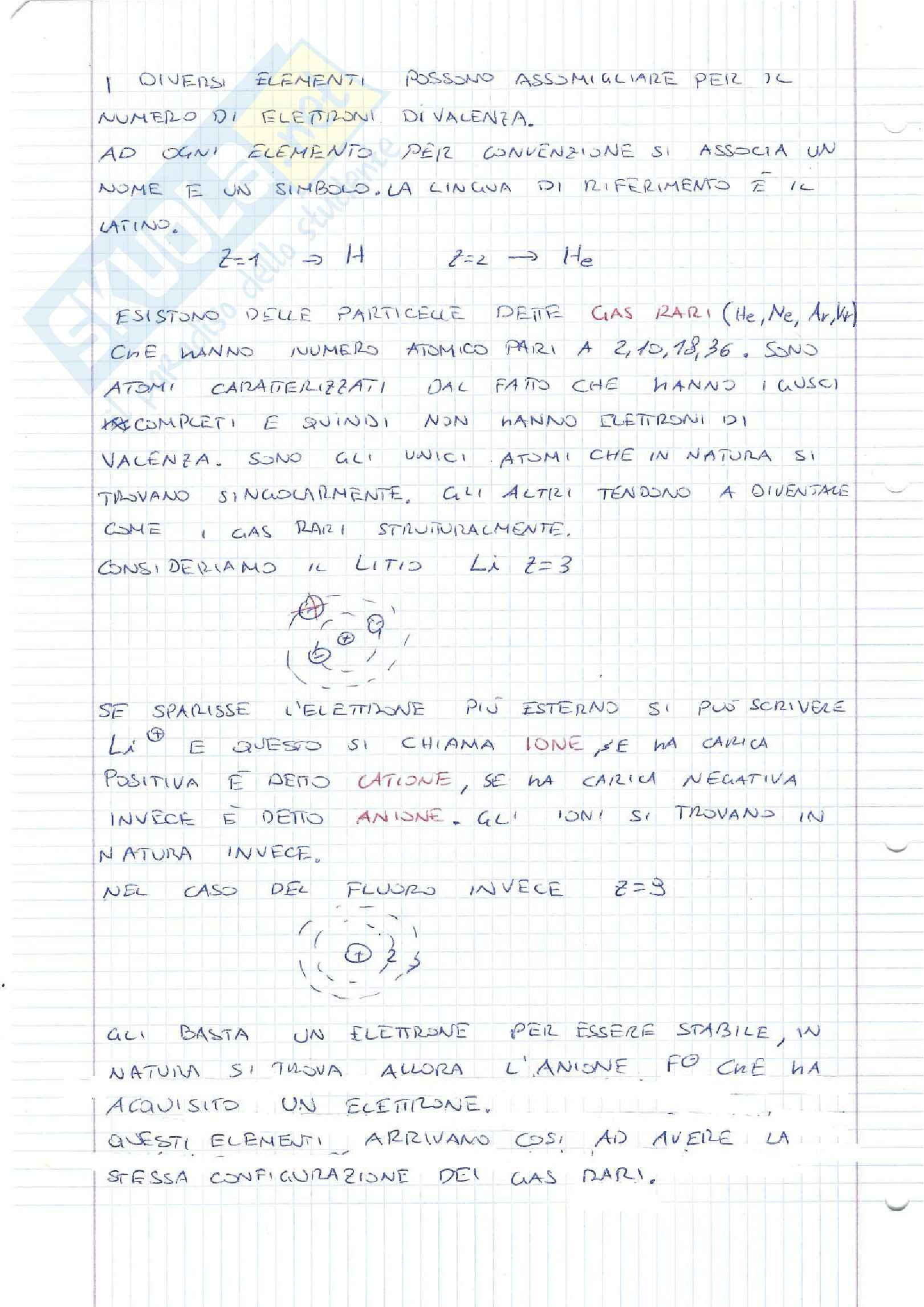 Lezioni, Chimica generale ed inorganica Pag. 2