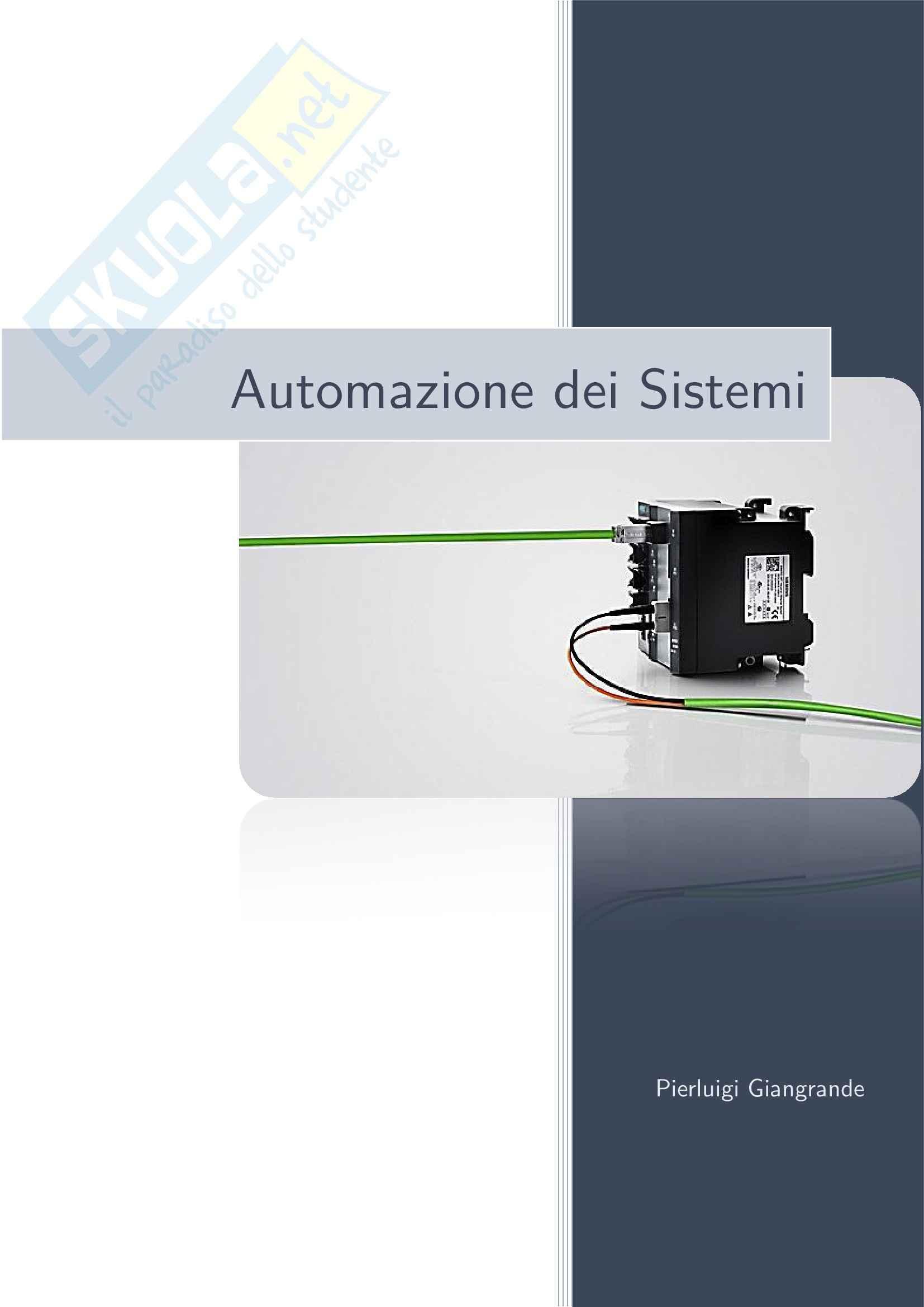 appunto D. Di Bernardo Automazione dei sistemi