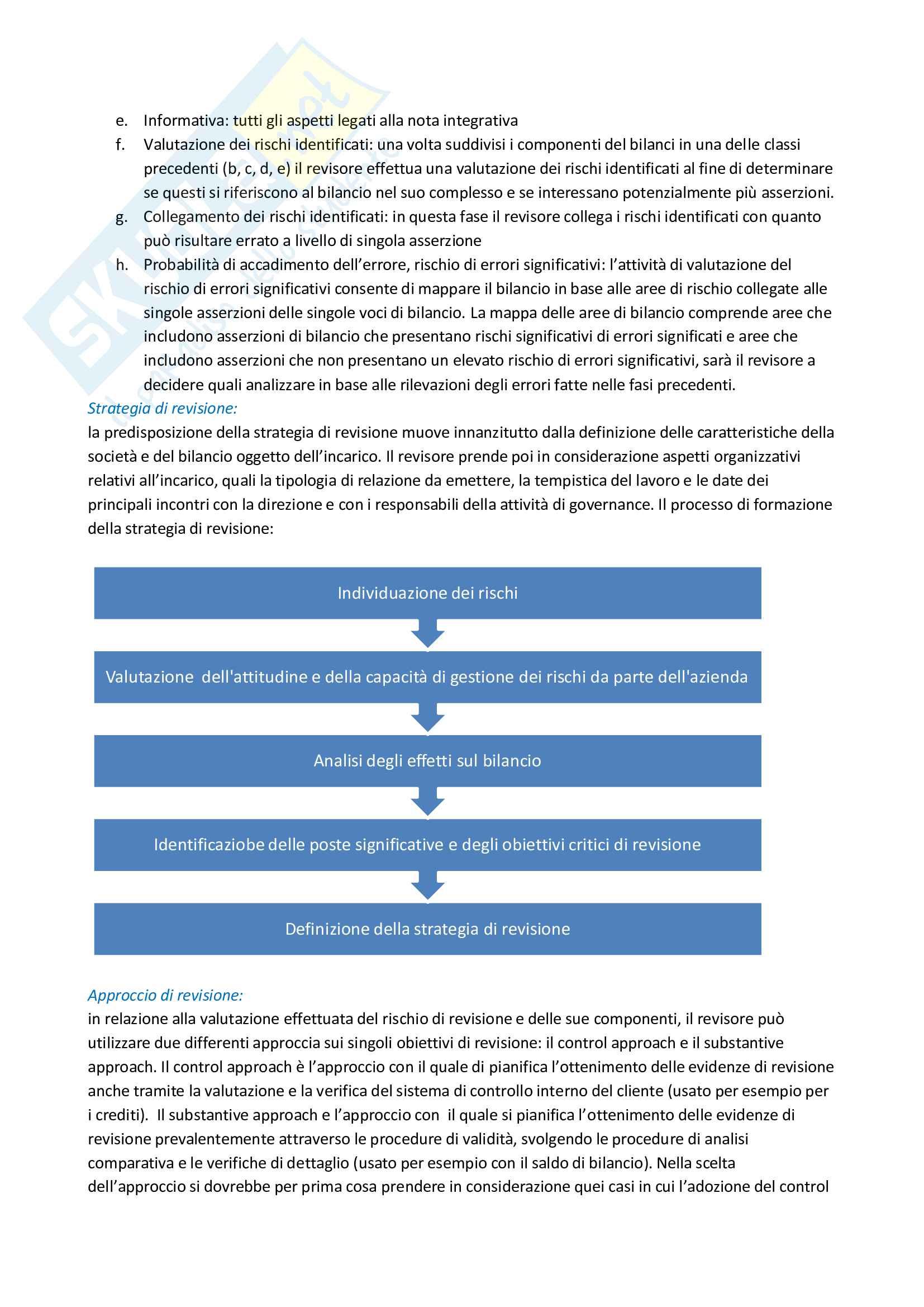 Riassunto esame Revisione aziendale, prof. Mariani, libro consigliato La revisione legale dei conti, Cadeddu, Portalupi Pag. 11