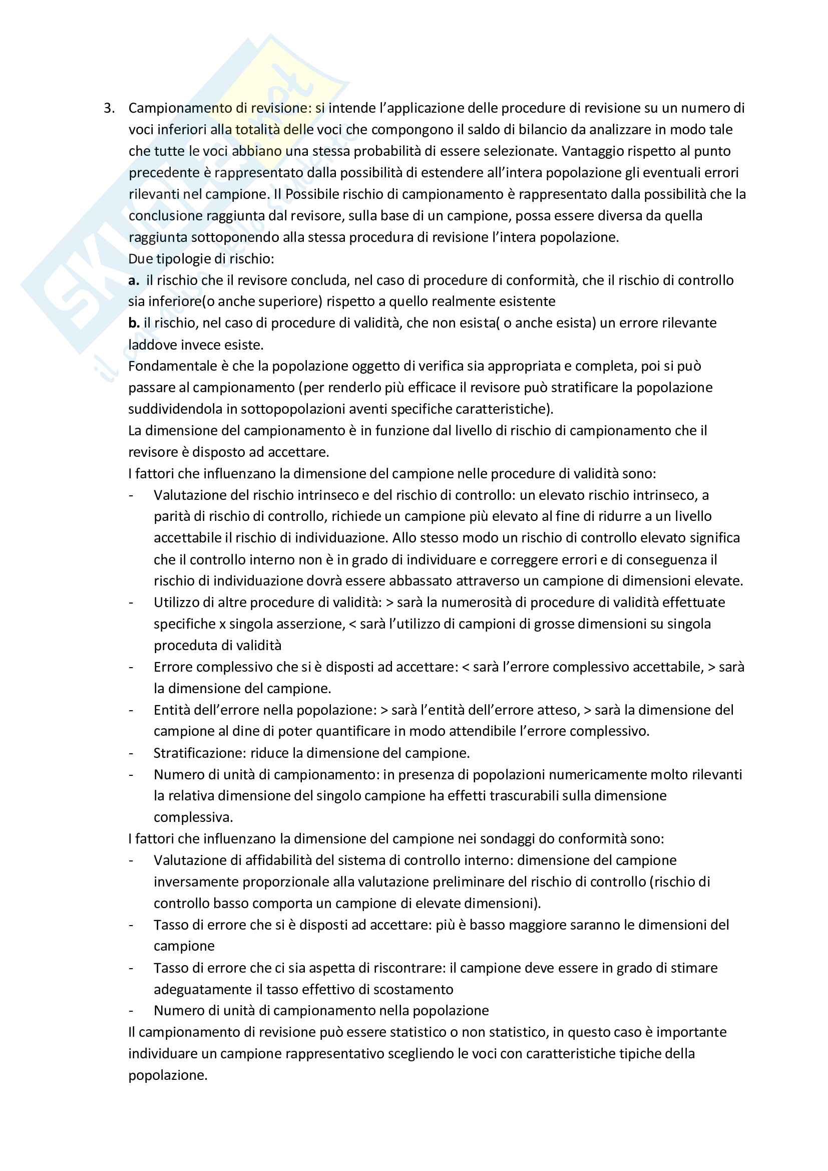 Riassunto esame Revisione aziendale, prof. Mariani, libro consigliato La revisione legale dei conti, Cadeddu, Portalupi Pag. 16