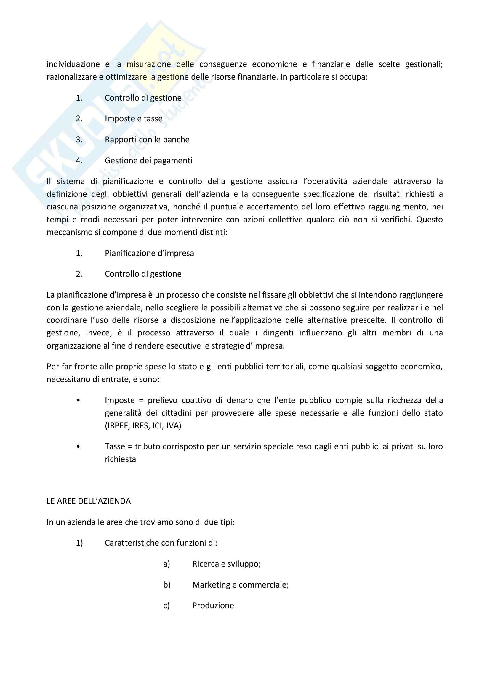 Riassunto esame degli Appunti di Economia aziendale, prof. Gandini Pag. 6