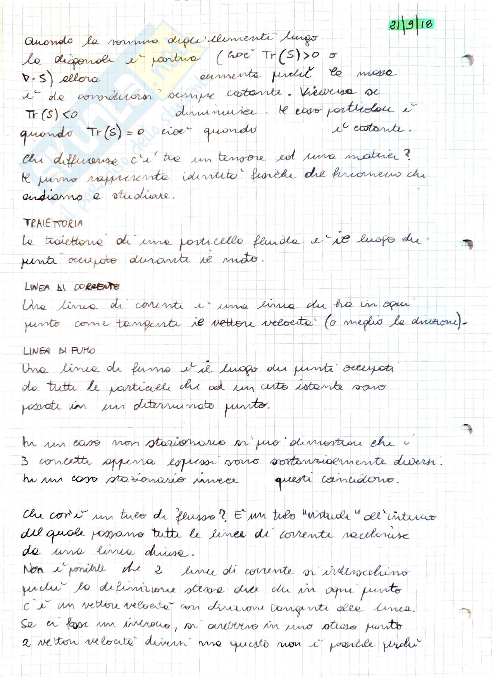 Appunti Aerodinamica Parte I, prof. Stalio Pag. 6