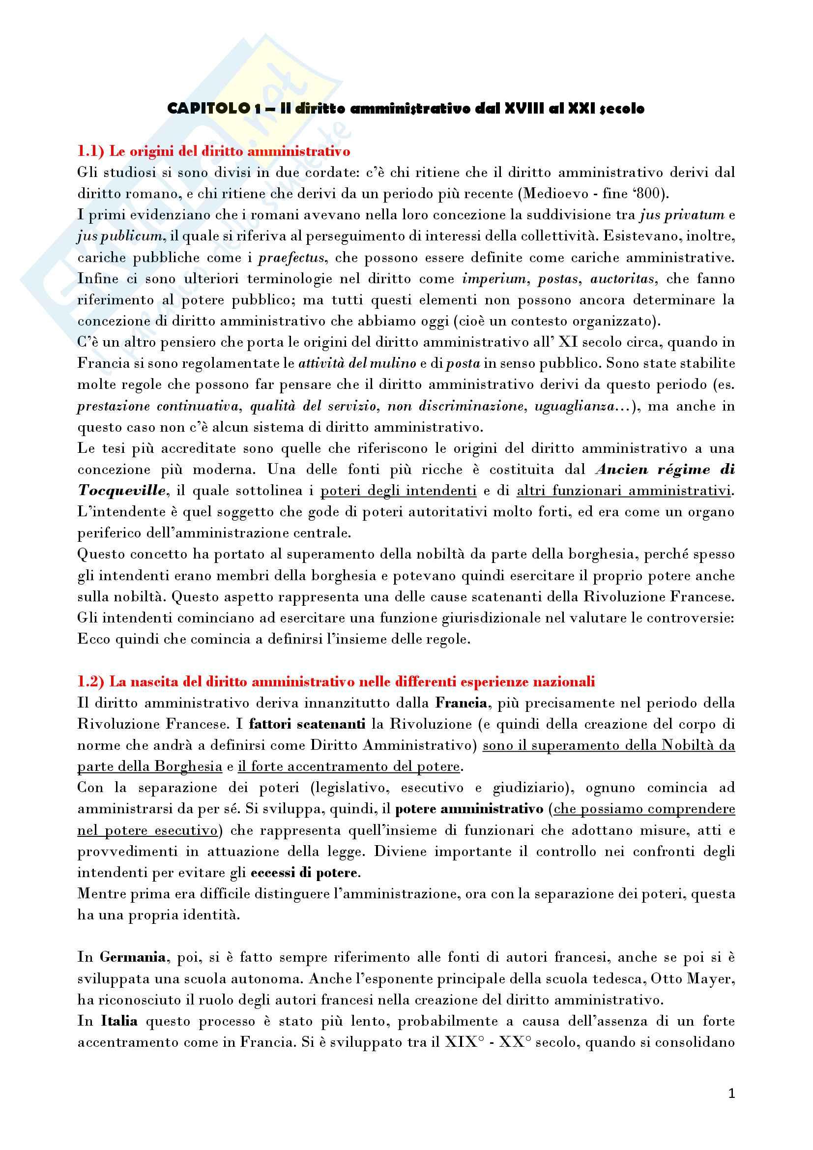 Riassunto esame Diritto Amministrativo, prof. D'Alberti, libro consigliato Lezioni di Diritto Amministrativo, D'Alberti Pag. 1
