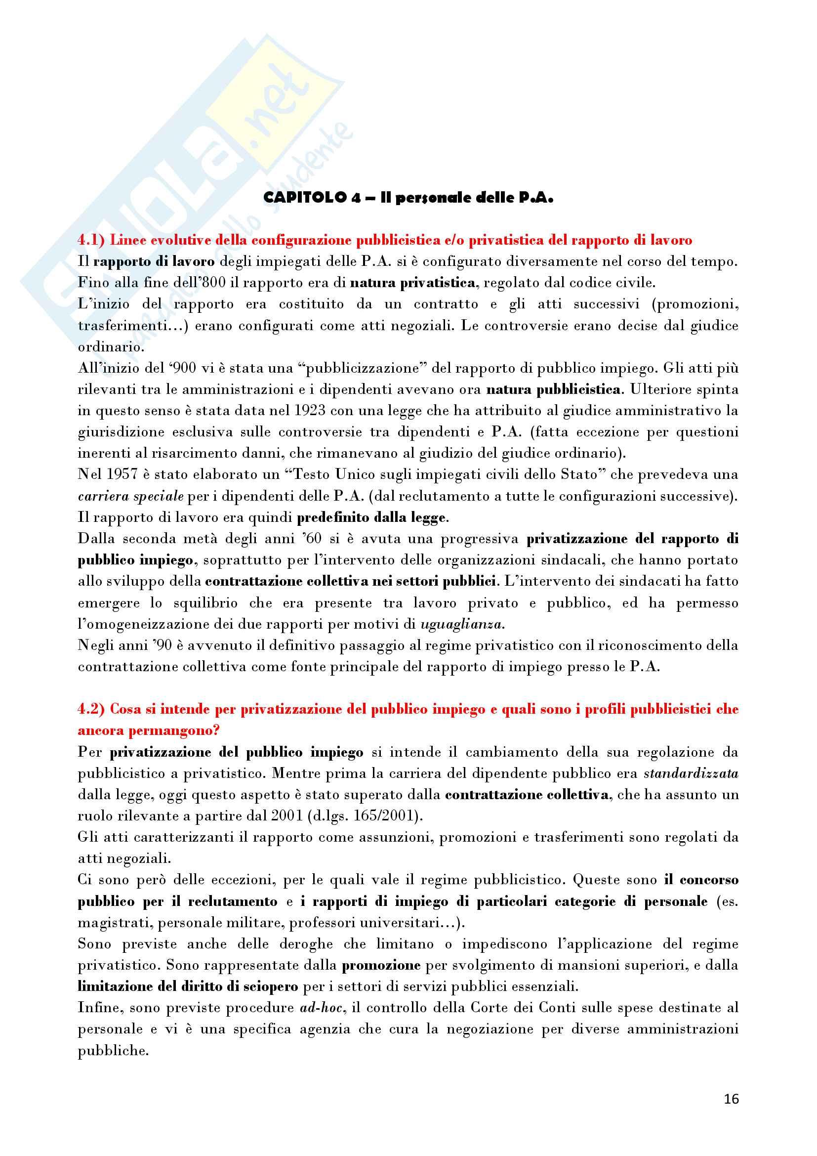 Riassunto esame Diritto Amministrativo, prof. D'Alberti, libro consigliato Lezioni di Diritto Amministrativo, D'Alberti Pag. 16