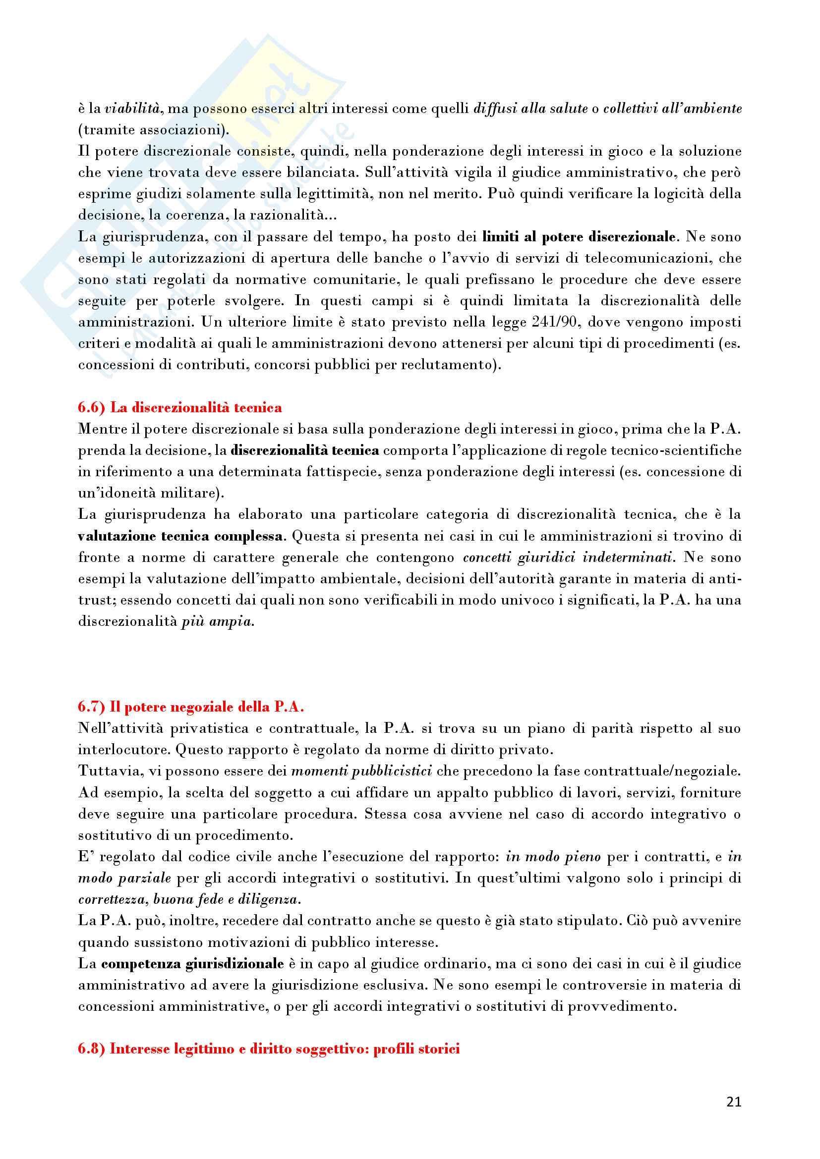 Riassunto esame Diritto Amministrativo, prof. D'Alberti, libro consigliato Lezioni di Diritto Amministrativo, D'Alberti Pag. 21
