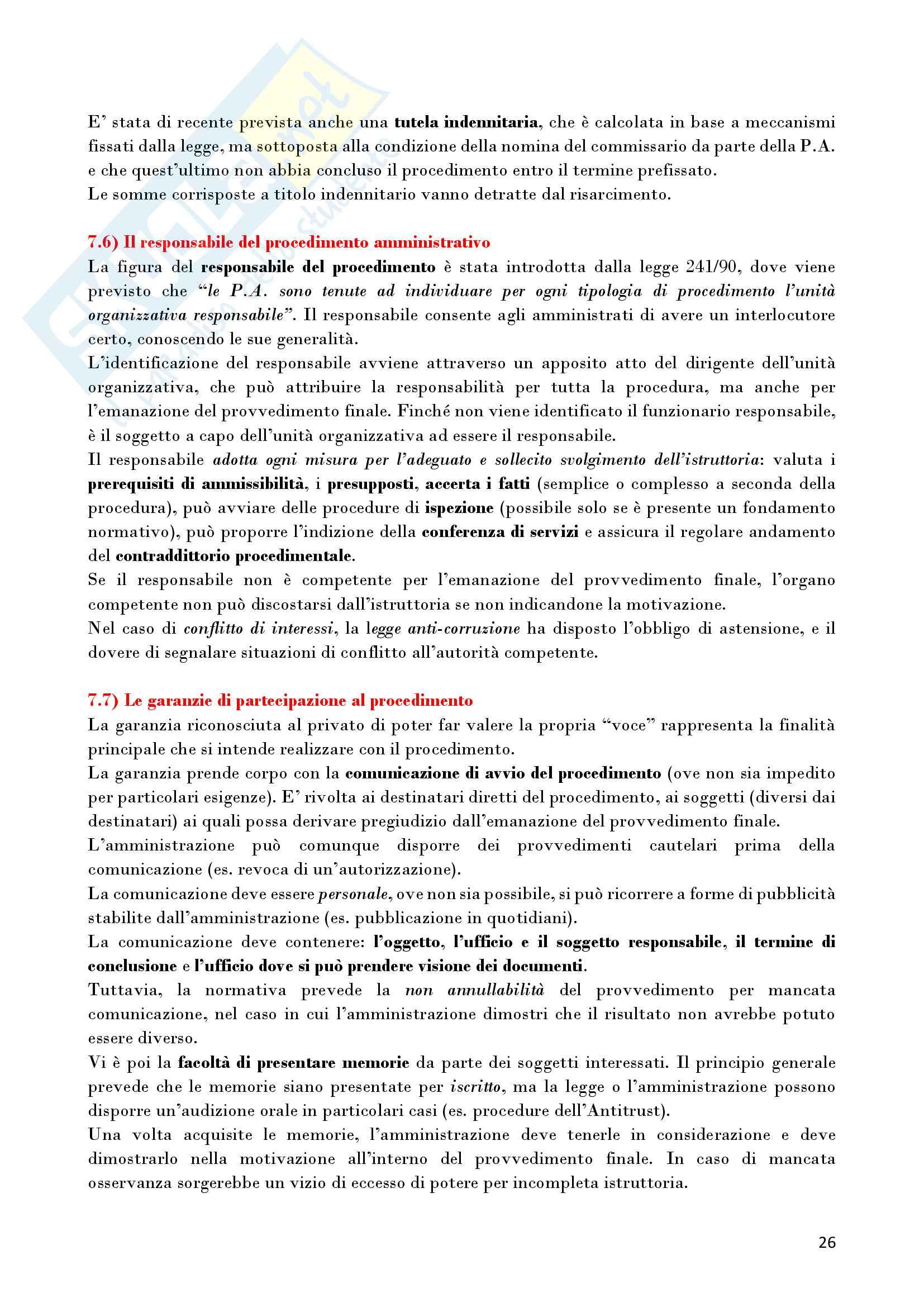 Riassunto esame Diritto Amministrativo, prof. D'Alberti, libro consigliato Lezioni di Diritto Amministrativo, D'Alberti Pag. 26