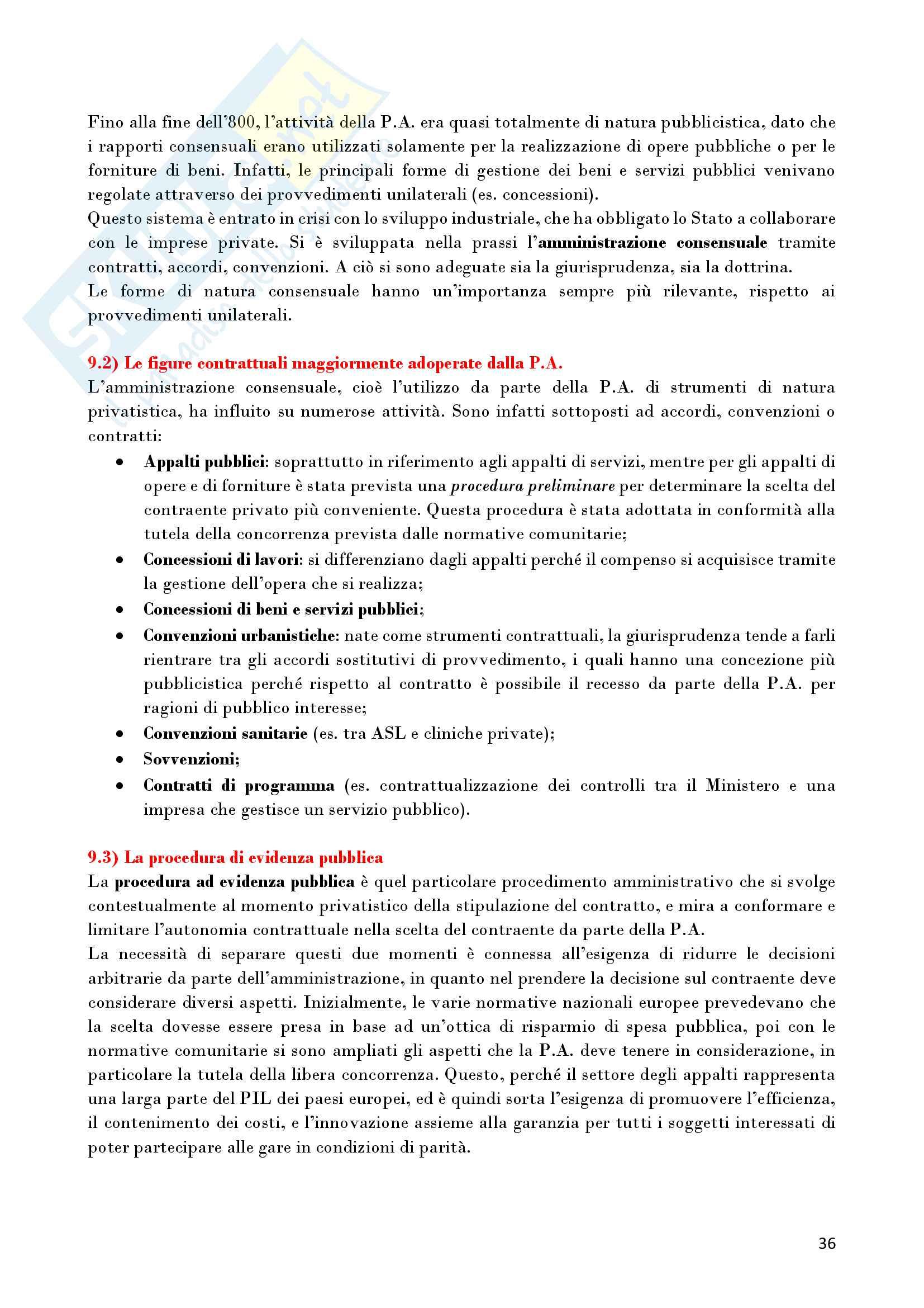 Riassunto esame Diritto Amministrativo, prof. D'Alberti, libro consigliato Lezioni di Diritto Amministrativo, D'Alberti Pag. 36