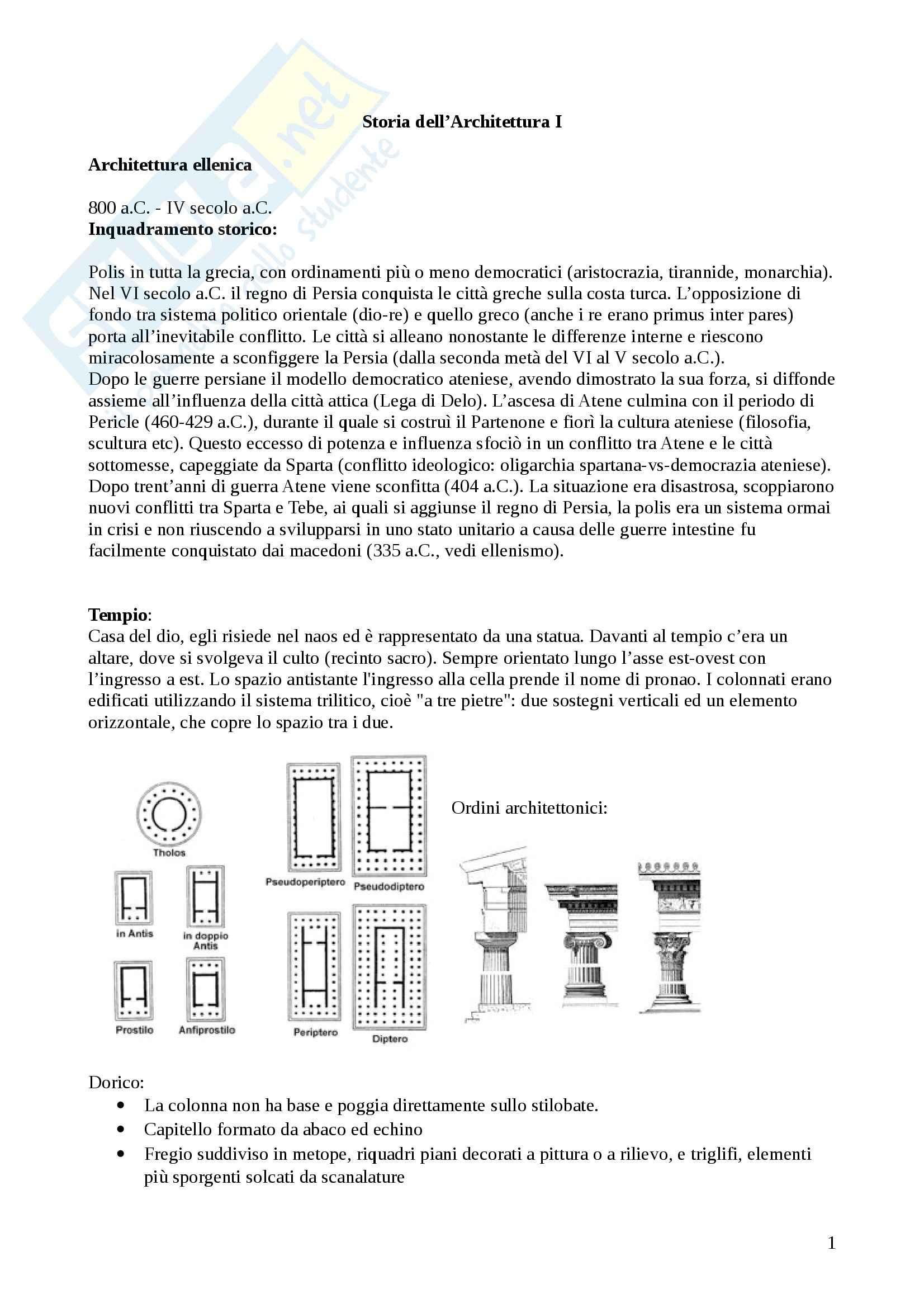 appunto R. Pacciani Storia dell'architettura 1