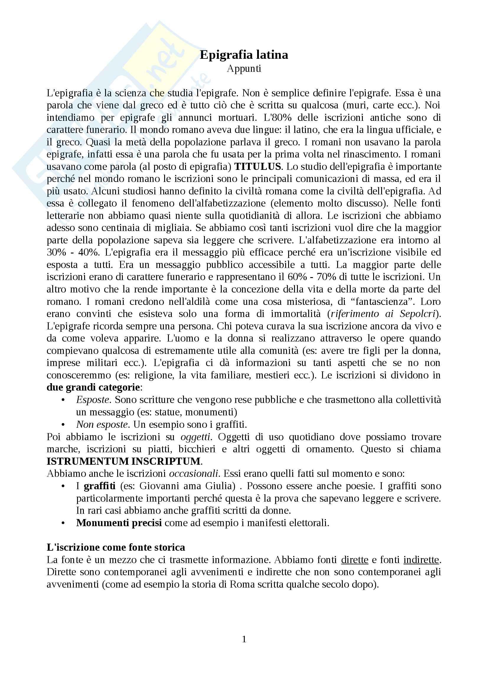 Epigrafia latina, prof. Buonopane