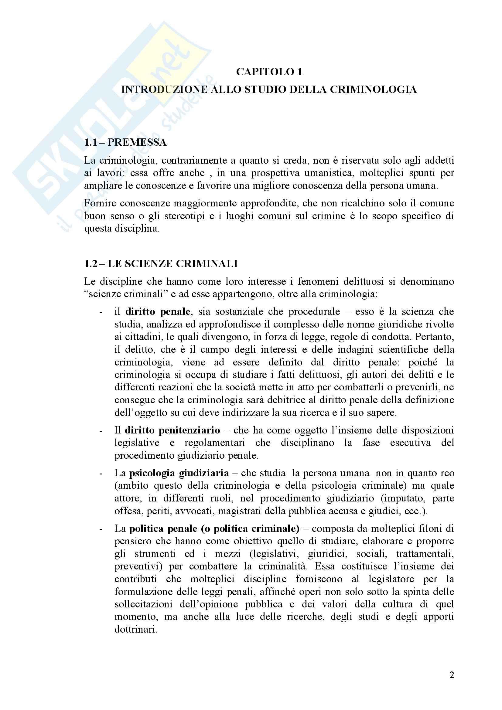 Criminologia - Compendio Pag. 2