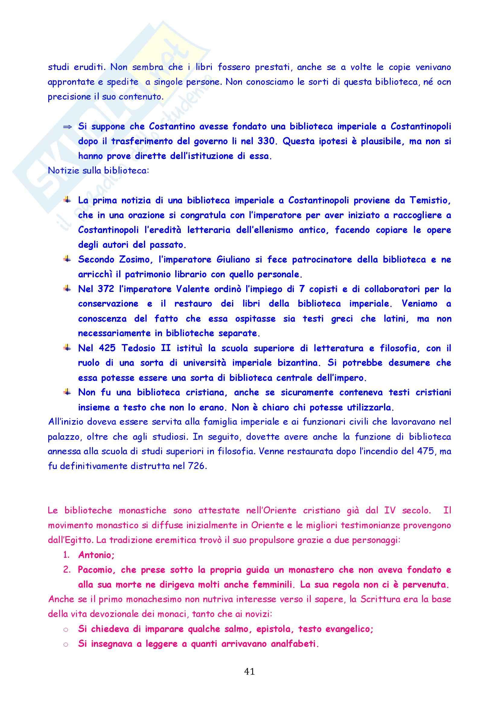Riassunto esame Storia del Cristianesimo Antico e Medievale, prof. Colombi, libro consigliato Libri e Lettori nella Chiesa Antica, Gamble Pag. 41