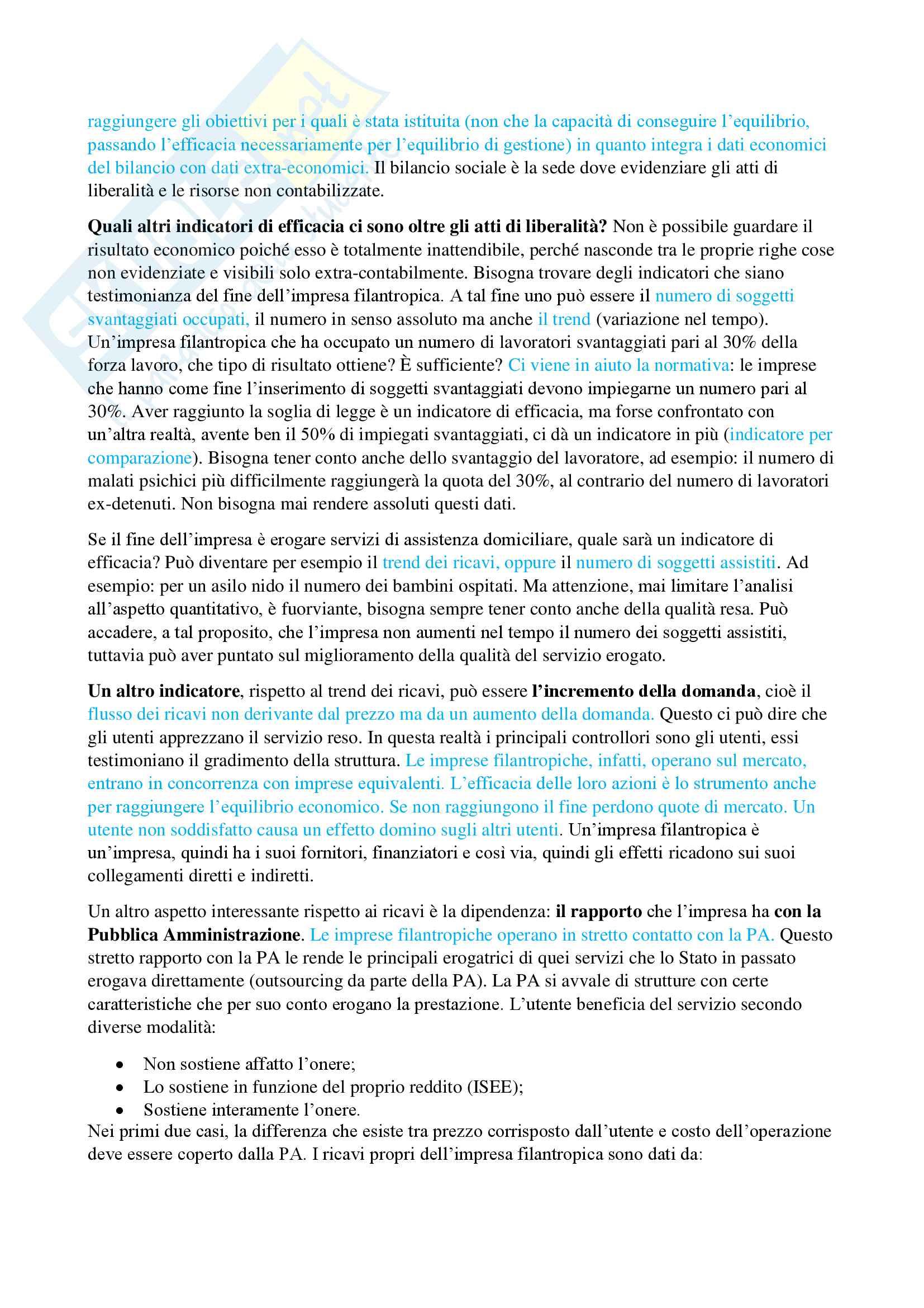 Esercizi di economia delle aziende non profit Pag. 16